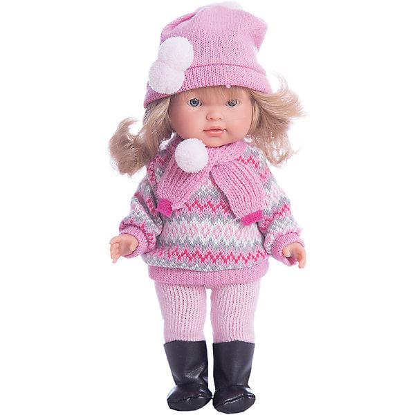 Кукла Валерия, 28 см, LlorensКуклы<br>Характеристики:<br><br>• Предназначение: для сюжетно-ролевых игр<br>• Тип куклы: мягконабивная<br>• Пол куклы: девочка <br>• Цвет волос: светло-русые<br>• Материал: поливинилхлорид, пластик, нейлон, текстиль<br>• Цвет: розовый, белый, серый, черный<br>• Высота куклы: 28 см<br>• Комплектация: кукла, свитер, штанишки, шапочка, шарф, сапожки<br>• Вес: 660 г<br>• Размеры упаковки (Д*В*Ш): 20*37*10 см<br>• Упаковка: подарочная картонная коробка <br>• Особенности ухода: допускается деликатная стирка без использования красящих и отбеливающих средств предметов одежды куклы<br><br>Кукла Валерия 28 см – кукла, производителем которого является всемирно известный испанский кукольный бренд Llorens. Куклы этой торговой марки имеют свою неповторимую внешность и целую линейку образов как пупсов, так и кукол-малышей. Игрушки выполнены из сочетания поливинилхлорида и пластика, что позволяет с высокой долей достоверности воссоздать физиологические и мимические особенности маленьких детей. При изготовлении кукол Llorens используются только сертифицированные материалы, безопасные и не вызывающие аллергических реакций. Волосы у кукол отличаются густотой, шелковистостью и блеском, при расчесывании они не выпадают и не ломаются.<br>Кукла Валерия 28 см выполнена в образе малышки: у нее светлые волосы, собранные в пучок, по бокам выпущены две пряди. Комплект теплой одежды состоит из вязаного свитера и штанишек, шарфа и шапочки. На ножках у Валерии – сапожки. <br>Кукла Валерия 28 см – это идеальный вариант для подарка к различным праздникам и торжествам.<br><br>Куклу Валерию 28 см можно купить в нашем интернет-магазине.<br>Ширина мм: 20; Глубина мм: 37; Высота мм: 10; Вес г: 660; Возраст от месяцев: 36; Возраст до месяцев: 84; Пол: Женский; Возраст: Детский; SKU: 5086941;