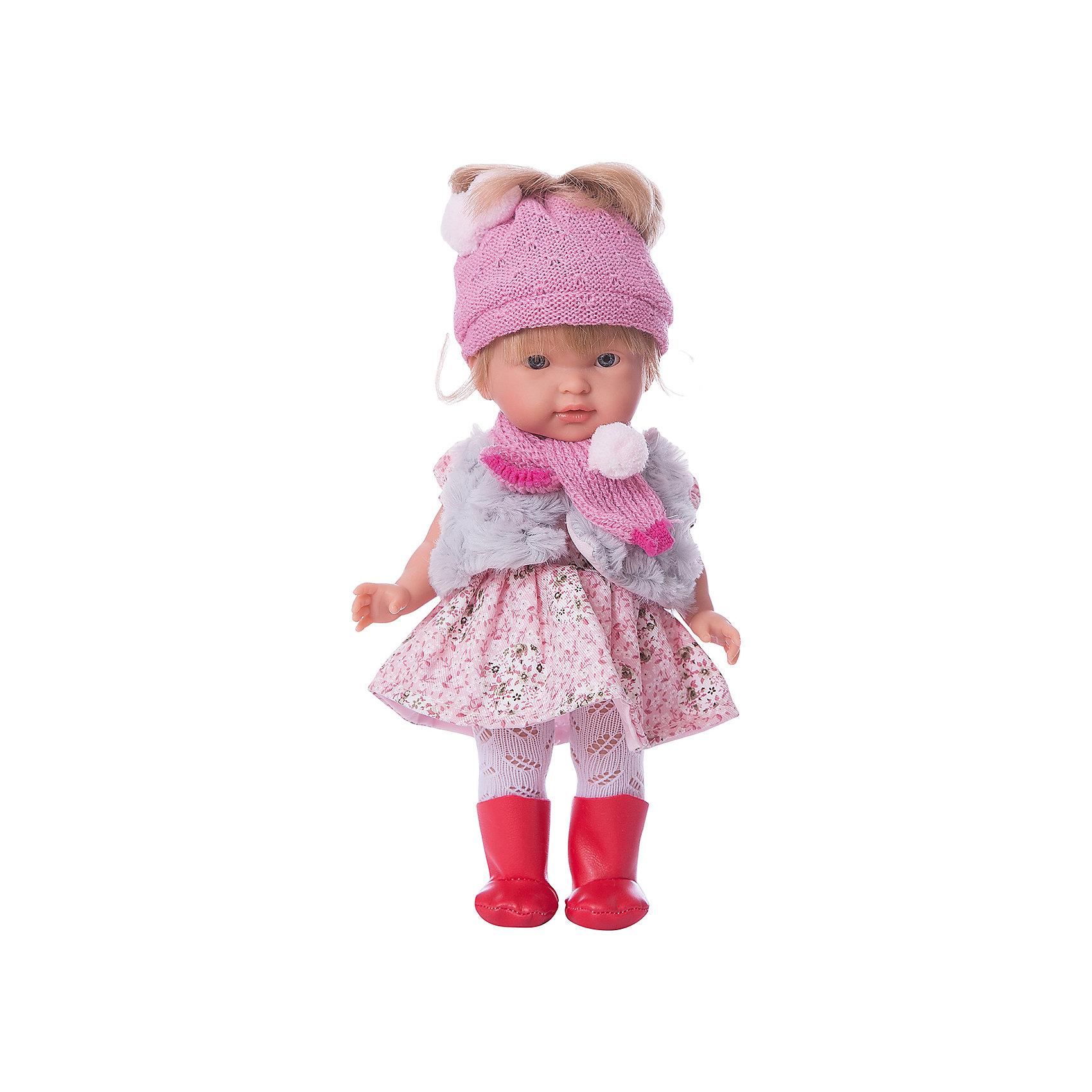 Кукла Валерия 28 см,, LlorensБренды кукол<br>Характеристики:<br><br>• Предназначение: для сюжетно-ролевых игр<br>• Тип куклы: мягконабивная<br>• Пол куклы: девочка <br>• Цвет волос: светло-русые<br>• Материал: поливинилхлорид, пластик, нейлон, текстиль<br>• Цвет: красный, розовый, белый, серый<br>• Высота куклы: 35 см<br>• Комплектация: кукла, платье, шапка, шарф, колготки, туфли<br>• Вес: 950 г<br>• Размеры упаковки (Д*В*Ш): 22*43*10 см<br>• Упаковка: подарочная картонная коробка <br>• Особенности ухода: допускается деликатная стирка без использования красящих и отбеливающих средств предметов одежды куклы<br><br>Кукла Елена 35 см – кукла, производителем которого является всемирно известный испанский кукольный бренд Llorens. Куклы этой торговой марки имеют свою неповторимую внешность и целую линейку образов как пупсов, так и кукол-малышей. Игрушки выполнены из сочетания поливинилхлорида и пластика, что позволяет с высокой долей достоверности воссоздать физиологические и мимические особенности маленьких детей. При изготовлении кукол Llorens используются только сертифицированные материалы, безопасные и не вызывающие аллергических реакций. Волосы у кукол отличаются густотой, шелковистостью и блеском, при расчесывании они не выпадают и не ломаются.<br>Кукла Елена 35 см выполнена в образе девочки: у нее прямые длинные волосы и голубые глаза. Комплект одежды состоит из теплого вязаного платья с длинными рукавами, розовых колготочек, шапки и шарфа. На ножках у Валерии – черные туфельки. <br>Кукла Елена 35 см – это идеальный вариант для подарка к различным праздникам и торжествам.<br><br>Куклу Елену 35 см можно купить в нашем интернет-магазине.<br><br>Ширина мм: 20<br>Глубина мм: 37<br>Высота мм: 10<br>Вес г: 660<br>Возраст от месяцев: 36<br>Возраст до месяцев: 84<br>Пол: Женский<br>Возраст: Детский<br>SKU: 5086942