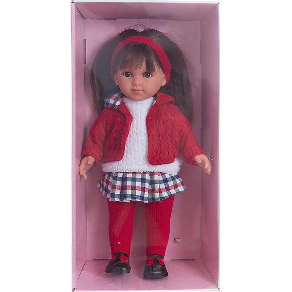 Кукла Елена, 35 см, LlorensБренды кукол<br>Характеристики:<br><br>• Предназначение: для сюжетно-ролевых игр<br>• Тип куклы: мягконабивная<br>• Пол куклы: девочка <br>• Цвет волос: темно-русые<br>• Материал: поливинилхлорид, пластик, нейлон, текстиль<br>• Цвет: красный, белый, черный<br>• Высота куклы: 35 см<br>• Комплектация: кукла, юбка, свитер, курточка, колготки, туфли<br>• Вес: 950 г<br>• Размеры упаковки (Д*В*Ш): 22*43*10 см<br>• Упаковка: подарочная картонная коробка <br>• Особенности ухода: допускается деликатная стирка без использования красящих и отбеливающих средств предметов одежды куклы<br><br>Кукла Елена 35 см – кукла, производителем которого является всемирно известный испанский кукольный бренд Llorens. Куклы этой торговой марки имеют свою неповторимую внешность и целую линейку образов как пупсов, так и кукол-малышей. Игрушки выполнены из сочетания поливинилхлорида и пластика, что позволяет с высокой долей достоверности воссоздать физиологические и мимические особенности маленьких детей. При изготовлении кукол Llorens используются только сертифицированные материалы, безопасные и не вызывающие аллергических реакций. Волосы у кукол отличаются густотой, шелковистостью и блеском, при расчесывании они не выпадают и не ломаются.<br>Кукла Елена 35 см выполнена в образе девочки: у нее карие глаза и прямые длинные волосы, придерживаемые красной атласной лентой. Комплект теплой одежды состоит из вязаного белого свитера, клетчатой юбки, красной курточки и колготочек. На ножках у Елены – черные туфельки с ремешками. <br>Кукла Елена 35 см – это идеальный вариант для подарка к различным праздникам и торжествам.<br><br>Куклу Елену 35 см можно купить в нашем интернет-магазине.<br>Ширина мм: 22; Глубина мм: 43; Высота мм: 10; Вес г: 950; Возраст от месяцев: 36; Возраст до месяцев: 84; Пол: Женский; Возраст: Детский; SKU: 5086944;