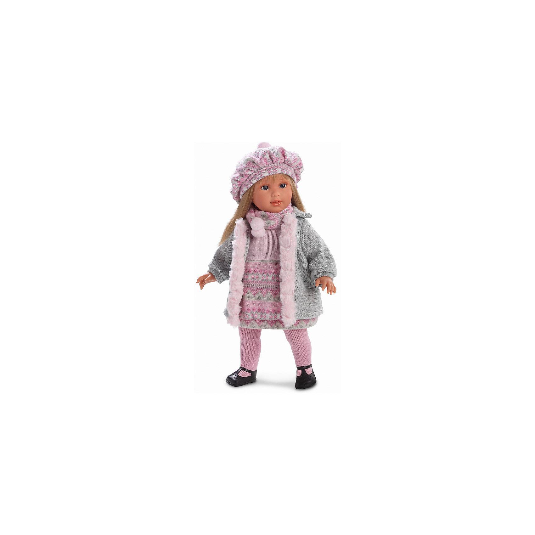 Кукла Мартина, 40 см, LlorensХарактеристики:<br><br>• Предназначение: для сюжетно-ролевых игр<br>• Тип куклы: мягконабивная<br>• Пол куклы: девочка <br>• Цвет волос: блондинка<br>• Материал: поливинилхлорид, пластик, нейлон, текстиль<br>• Цвет: розовый, серый, белый, черный<br>• Высота куклы: 40 см<br>• Комплектация: кукла, платье, пальто, берет, шарф, колготки, туфли<br>• Вес: 950 г<br>• Размеры упаковки (Д*В*Ш): 23*46*13 см<br>• Упаковка: подарочная картонная коробка <br>• Особенности ухода: допускается деликатная стирка без использования красящих и отбеливающих средств предметов одежды куклы<br><br>Кукла Мартина 40 см – кукла, производителем которого является всемирно известный испанский кукольный бренд Llorens. Куклы этой торговой марки имеют свою неповторимую внешность и целую линейку образов как пупсов, так и кукол-малышей. Игрушки выполнены из сочетания поливинилхлорида и пластика, что позволяет с высокой долей достоверности воссоздать физиологические и мимические особенности маленьких детей. При изготовлении кукол Llorens используются только сертифицированные материалы, безопасные и не вызывающие аллергических реакций. Волосы у кукол отличаются густотой, шелковистостью и блеском, при расчесывании они не выпадают и не ломаются.<br>Кукла Мартина 40 см выполнена в образе девочки: у нее прямые длинные волосы, которые можно укладывать в различные прически. Комплект теплой одежды состоит из вязаного платья, пальто с меховой отделкой, колготочек. Дополняют стильный Мартины объемный берет и шарф с помпонами. На ножках у Мартины – черные туфельки с ремешками. <br>Кукла Мартина 40 см – это идеальный вариант для подарка к различным праздникам и торжествам.<br><br>Куклу Мартину 40 см можно купить в нашем интернет-магазине.<br><br>Ширина мм: 23<br>Глубина мм: 46<br>Высота мм: 13<br>Вес г: 1200<br>Возраст от месяцев: 36<br>Возраст до месяцев: 84<br>Пол: Женский<br>Возраст: Детский<br>SKU: 5086945