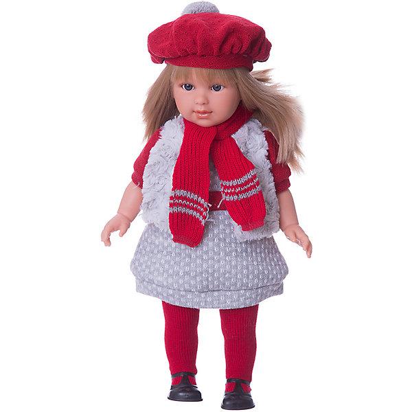 Кукла  Мартина, 40 см, LlorensКуклы<br>Характеристики:<br><br>• Предназначение: для сюжетно-ролевых игр<br>• Тип куклы: мягконабивная<br>• Пол куклы: девочка <br>• Цвет волос: блондинка<br>• Материал: поливинилхлорид, пластик, нейлон, текстиль<br>• Цвет: серый, красный<br>• Высота куклы: 40 см<br>• Комплектация: кукла, платье, меховая жилетка, берет, шарф, колготки, туфли<br>• Вес: 1 кг 200 г<br>• Размеры упаковки (Д*В*Ш): 23*46*13 см<br>• Упаковка: подарочная картонная коробка <br>• Особенности ухода: допускается деликатная стирка без использования красящих и отбеливающих средств предметов одежды куклы<br><br>Кукла Мартина 40 см – кукла, производителем которого является всемирно известный испанский кукольный бренд Llorens. Куклы этой торговой марки имеют свою неповторимую внешность и целую линейку образов как пупсов, так и кукол-малышей. Игрушки выполнены из сочетания поливинилхлорида и пластика, что позволяет с высокой долей достоверности воссоздать физиологические и мимические особенности маленьких детей. При изготовлении кукол Llorens используются только сертифицированные материалы, безопасные и не вызывающие аллергических реакций. Волосы у кукол отличаются густотой, шелковистостью и блеском, при расчесывании они не выпадают и не ломаются.<br>Кукла Мартина 40 см выполнена в образе девочки: у нее прямые длинные волосы, которые можно укладывать в различные прически. Комплект теплой одежды состоит из комбинированного платья, меховой жилетки, колготочек. Дополняют стильный Мартины объемный яркий берет и шарф. На ножках у Мартины – черные туфельки с ремешками. <br>Кукла Мартина 40 см – это идеальный вариант для подарка к различным праздникам и торжествам.<br><br>Куклу Мартину 40 см можно купить в нашем интернет-магазине.<br>Ширина мм: 23; Глубина мм: 46; Высота мм: 13; Вес г: 1200; Возраст от месяцев: 36; Возраст до месяцев: 84; Пол: Женский; Возраст: Детский; SKU: 5086946;