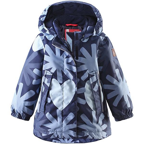 Куртка Misteli для девочки ReimaВерхняя одежда<br>Куртка для девочки от финского бренда Reima.<br>Зимняя куртка для малышей. Основные швы проклеены и не пропускают влагу. Водо- и ветронепроницаемый, «дышащий» и грязеотталкивающий материал. Крой для девочек. Гладкая подкладка из полиэстра. Безопасный, съемный капюшон. Эластичные манжеты. Регулировка сзади. Трапециевидная форма с удлиненным сзади подолом. Два прорезных кармана. Безопасные светоотражающие детали.<br>Рекомендация по уходу:<br>Стирать по отдельности, вывернув наизнанку. Застегнуть молнии и липучки. Стирать моющим средством, не содержащим отбеливающие вещества. Полоскать без специального средства. Во избежание изменения цвета изделие необходимо вынуть из стиральной машинки незамедлительно после окончания программы стирки. Сушить при низкой температуре.<br>Состав:<br>100% ПЭ, ПУ-покрытие<br>Вес утеплителя:160 g<br><br>Ширина мм: 356<br>Глубина мм: 10<br>Высота мм: 245<br>Вес г: 519<br>Цвет: синий<br>Возраст от месяцев: 12<br>Возраст до месяцев: 15<br>Пол: Женский<br>Возраст: Детский<br>Размер: 80,74,98,92,86<br>SKU: 5086965