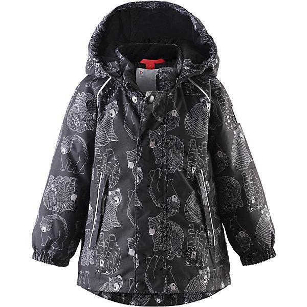 Куртка Bjorn Reimatec® ReimaВерхняя одежда<br>Куртка от финского бренда Reimatec® Reima.<br>Зимняя куртка для малышей. Все швы проклеены и водонепроницаемы. Водо- и ветронепроницаемый, «дышащий» и грязеотталкивающий материал. Гладкая подкладка из полиэстра. Безопасный, отстегивающийся и регулируемый капюшон. Эластичные манжеты. Регулируемый подол. Два кармана на молнии. Принт по всей поверхности. Безопасные светоотражающие детали.<br>Рекомендация по уходу:<br>Стирать по отдельности, вывернув наизнанку. Застегнуть молнии и липучки. Стирать моющим средством, не содержащим отбеливающие вещества. Полоскать без специального средства. Во избежание изменения цвета изделие необходимо вынуть из стиральной машинки незамедлительно после окончания программы стирки. Можно сушить в сушильном шкафу или центрифуге (макс. 40° C).<br>Состав:<br>100% ПЭ, ПУ-покрытие<br>Вес утеплителя:160 g<br><br>Ширина мм: 356<br>Глубина мм: 10<br>Высота мм: 245<br>Вес г: 519<br>Цвет: черный<br>Возраст от месяцев: 6<br>Возраст до месяцев: 9<br>Пол: Мужской<br>Возраст: Детский<br>Размер: 74,98,92,86,80<br>SKU: 5086977