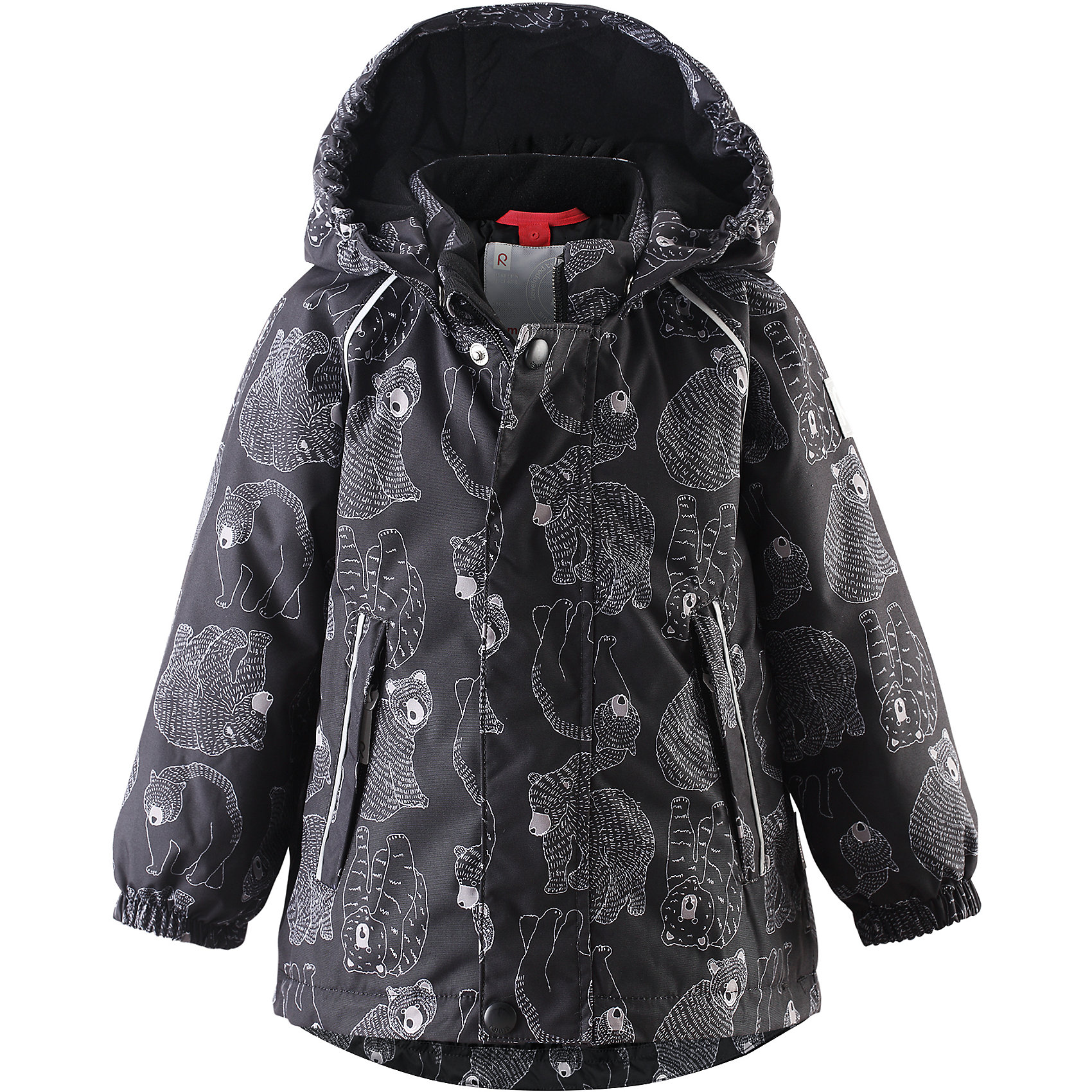 Куртка Bjorn Reimatec® ReimaОдежда<br>Куртка от финского бренда Reimatec® Reima.<br>Зимняя куртка для малышей. Все швы проклеены и водонепроницаемы. Водо- и ветронепроницаемый, «дышащий» и грязеотталкивающий материал. Гладкая подкладка из полиэстра. Безопасный, отстегивающийся и регулируемый капюшон. Эластичные манжеты. Регулируемый подол. Два кармана на молнии. Принт по всей поверхности. Безопасные светоотражающие детали.<br>Рекомендация по уходу:<br>Стирать по отдельности, вывернув наизнанку. Застегнуть молнии и липучки. Стирать моющим средством, не содержащим отбеливающие вещества. Полоскать без специального средства. Во избежание изменения цвета изделие необходимо вынуть из стиральной машинки незамедлительно после окончания программы стирки. Можно сушить в сушильном шкафу или центрифуге (макс. 40° C).<br>Состав:<br>100% ПЭ, ПУ-покрытие<br>Вес утеплителя:160 g<br><br>Ширина мм: 356<br>Глубина мм: 10<br>Высота мм: 245<br>Вес г: 519<br>Цвет: черный<br>Возраст от месяцев: 6<br>Возраст до месяцев: 9<br>Пол: Мужской<br>Возраст: Детский<br>Размер: 74,98,80,86,92<br>SKU: 5086977