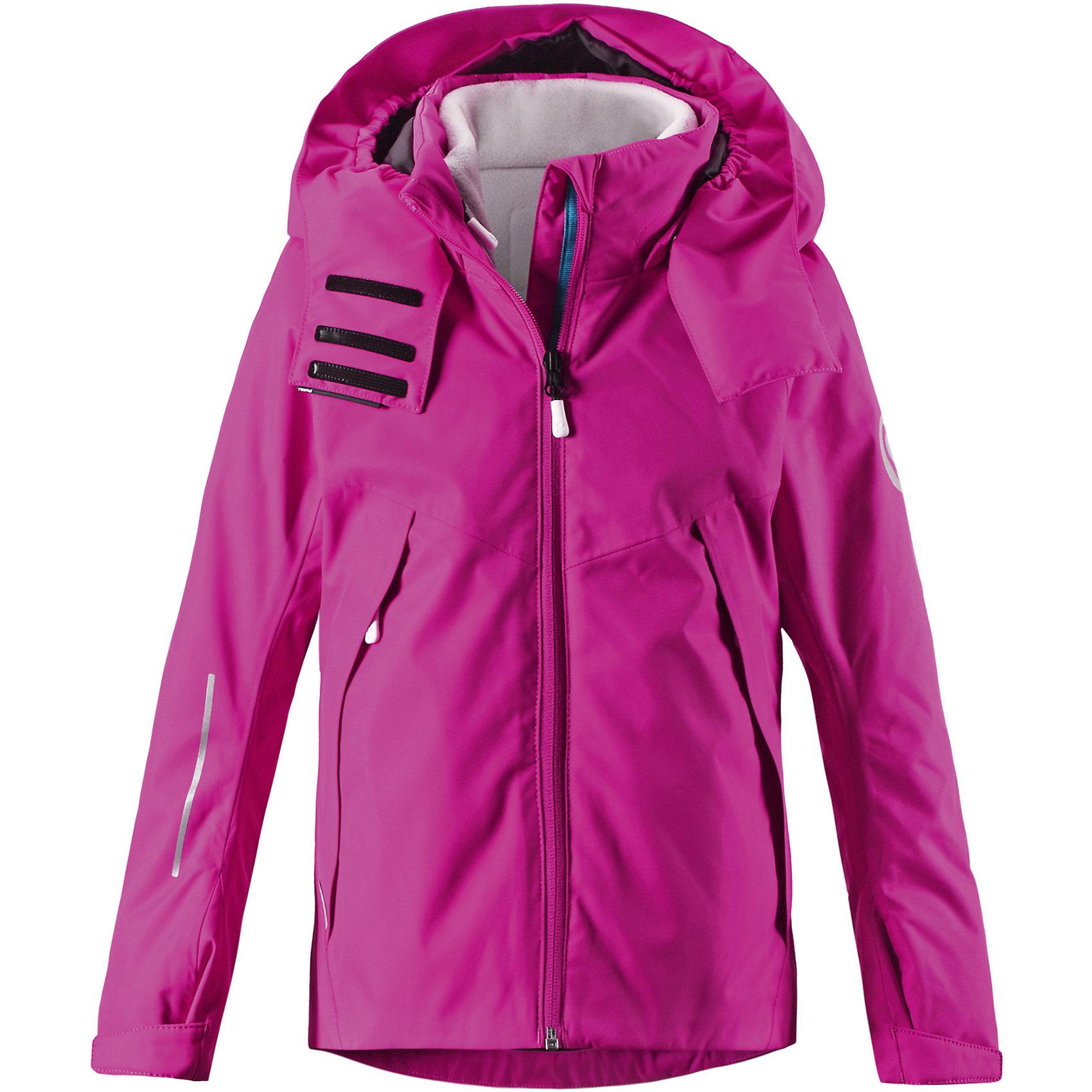 Куртка Vaellus для девочки Reimatec® ReimaКуртка для девочки от финского бренда Reimatec® Reima.<br>Куртка для подростков. Все швы проклеены и водонепроницаемы. Водо- и ветронепроницаемый, «дышащий» и грязеотталкивающий материал. Внутренняя отстегивающаяся флисовая куртка. Гладкая подкладка из полиэстра. Безопасный, отстегивающийся и регулируемый капюшон. Регулируемый манжет на липучке. Регулируемый подол. Новая усовершенствованная молния — больше не застревает!. Карманы на молнии.<br>Рекомендация по уходу:<br>Стирать по отдельности, вывернув наизнанку. Застегнуть молнии и липучки. Стирать моющим средством, не содержащим отбеливающие вещества. Полоскать без специального средства. Во избежание изменения цвета изделие необходимо вынуть из стиральной машинки незамедлительно после окончания программы стирки. Можно сушить в сушильном шкафу или центрифуге (макс. 40° C).<br>Состав:<br>100% ПЭ, ПУ-покрытие<br><br>Ширина мм: 356<br>Глубина мм: 10<br>Высота мм: 245<br>Вес г: 519<br>Цвет: розовый<br>Возраст от месяцев: 156<br>Возраст до месяцев: 168<br>Пол: Женский<br>Возраст: Детский<br>Размер: 164,104,110,116,122,128,134,140,146,152,158<br>SKU: 5087122