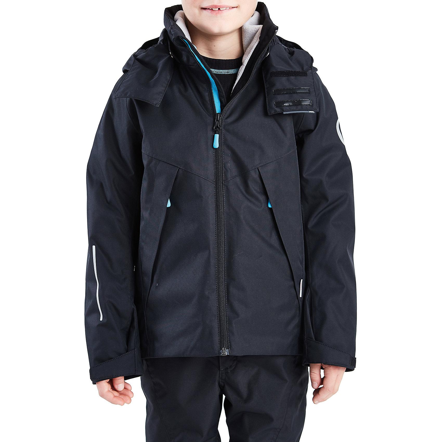 Куртка Vandring для мальчика Reimatec® ReimaОдежда<br>Куртка для мальчика от финского бренда Reimatec® Reima.<br>Куртка для подростков. Все швы проклеены и водонепроницаемы. Водо- и ветронепроницаемый, «дышащий» и грязеотталкивающий материал. Внутренняя отстегивающаяся флисовая куртка. Гладкая подкладка из полиэстра. Безопасный, отстегивающийся и регулируемый капюшон. Регулируемый манжет на липучке. Регулируемый подол. Новая усовершенствованная молния — больше не застревает!. Карманы на молнии.<br>Рекомендация по уходу:<br>Стирать по отдельности, вывернув наизнанку. Застегнуть молнии и липучки. Стирать моющим средством, не содержащим отбеливающие вещества. Полоскать без специального средства. Во избежание изменения цвета изделие необходимо вынуть из стиральной машинки незамедлительно после окончания программы стирки. Можно сушить в сушильном шкафу или центрифуге (макс. 40° C).<br>Состав:<br>100% ПЭ, ПУ-покрытие<br><br>Ширина мм: 356<br>Глубина мм: 10<br>Высота мм: 245<br>Вес г: 519<br>Цвет: черный<br>Возраст от месяцев: 36<br>Возраст до месяцев: 48<br>Пол: Мужской<br>Возраст: Детский<br>Размер: 104,164,110,116,122,128,134,140,146,152,158<br>SKU: 5087146