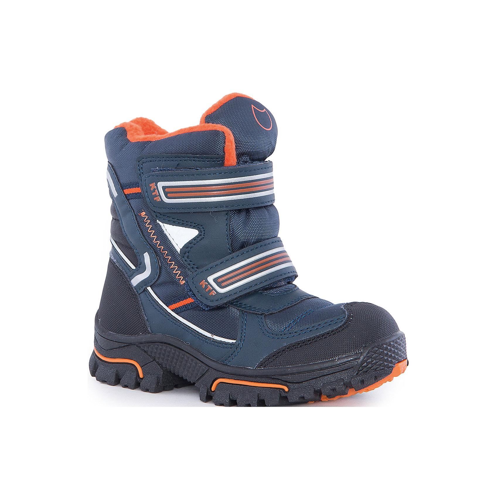 Ботинки  для мальчика КотофейБотинки  для мальчика Котофей.<br><br>Характеристики:<br><br>- Внешний материал: искусственная кожа, текстиль<br>- Внутренний материал: мех шерстяной<br>- Материал стельки: войлок<br>- Подошва: ТЭП<br>- Тип застежки: липучки<br>- Вид крепления обуви: литьевой<br>- Температурный режим до -20С<br>- Цвет: синий, оранжевый<br>- Сезон: зима<br>- Пол: для мальчиков<br><br>Зимние ботинки торговой марки Котофей обеспечат вашему мальчику максимальный комфорт. Верх ботинок выполнен из комбинированных материалов со специальным износостойким и водостойким мембранным материалом, что позволит ножке всегда оставаться сухой. Подкладка - из натуральной шерсти, имеется дополнительная стелька из войлока, поэтому ножке в такой обуви тепло и уютно. Гибкая, широкая, литьевая подошва с рельефным протектором обеспечит превосходное сцепление с поверхностью, не скользит. Она выполнена из термоэластопласта (ТЭП) – пластичного материала, отлично амортизирующего при шаге и не теряющего своих свойств при понижении температур. Мыс надежно защищен от царапин промокания прорезиненным материалом. Два ремня с липучками позволяют не только быстро обувать и снимать ботинки, но и обеспечивают плотное прилегание обуви к стопе. Детская обувь «Котофей» качественна, красива, добротна, комфортна и долговечна. Она производится на Егорьевской обувной фабрике. Жесткий контроль производства и постоянное совершенствование технологий при многолетнем опыте позволяют считать компанию одним из лидеров среди отечественных производителей детской обуви.<br><br>Ботинки  для мальчика Котофей можно купить в нашем интернет-магазине.<br><br>Ширина мм: 262<br>Глубина мм: 176<br>Высота мм: 97<br>Вес г: 427<br>Цвет: разноцветный<br>Возраст от месяцев: 48<br>Возраст до месяцев: 60<br>Пол: Мужской<br>Возраст: Детский<br>Размер: 28,35,34,33,32,31,30,29<br>SKU: 5087271