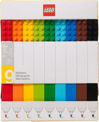 Набор цветных маркеров, 9 шт., LEGO, артикул:5087582 - LEGO Товары для фанатов