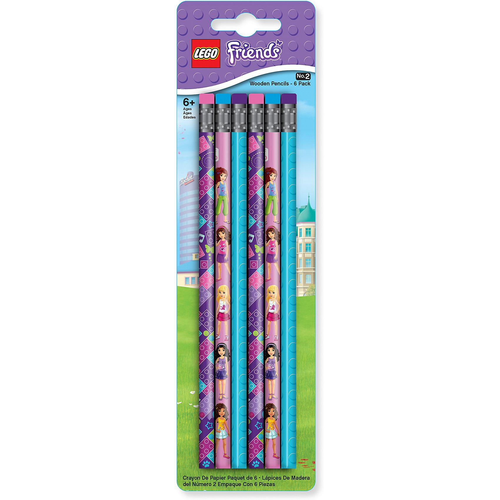 Набор карандашей, 6 шт., LEGOLEGO Товары для фанатов<br>Набор состоит из 6-ти карандашей с ластиком. Грифель карандашей твёрдо-мягкий.<br><br>Ширина мм: 245<br>Глубина мм: 71<br>Высота мм: 12<br>Вес г: 54<br>Возраст от месяцев: 60<br>Возраст до месяцев: 144<br>Пол: Женский<br>Возраст: Детский<br>SKU: 5087598