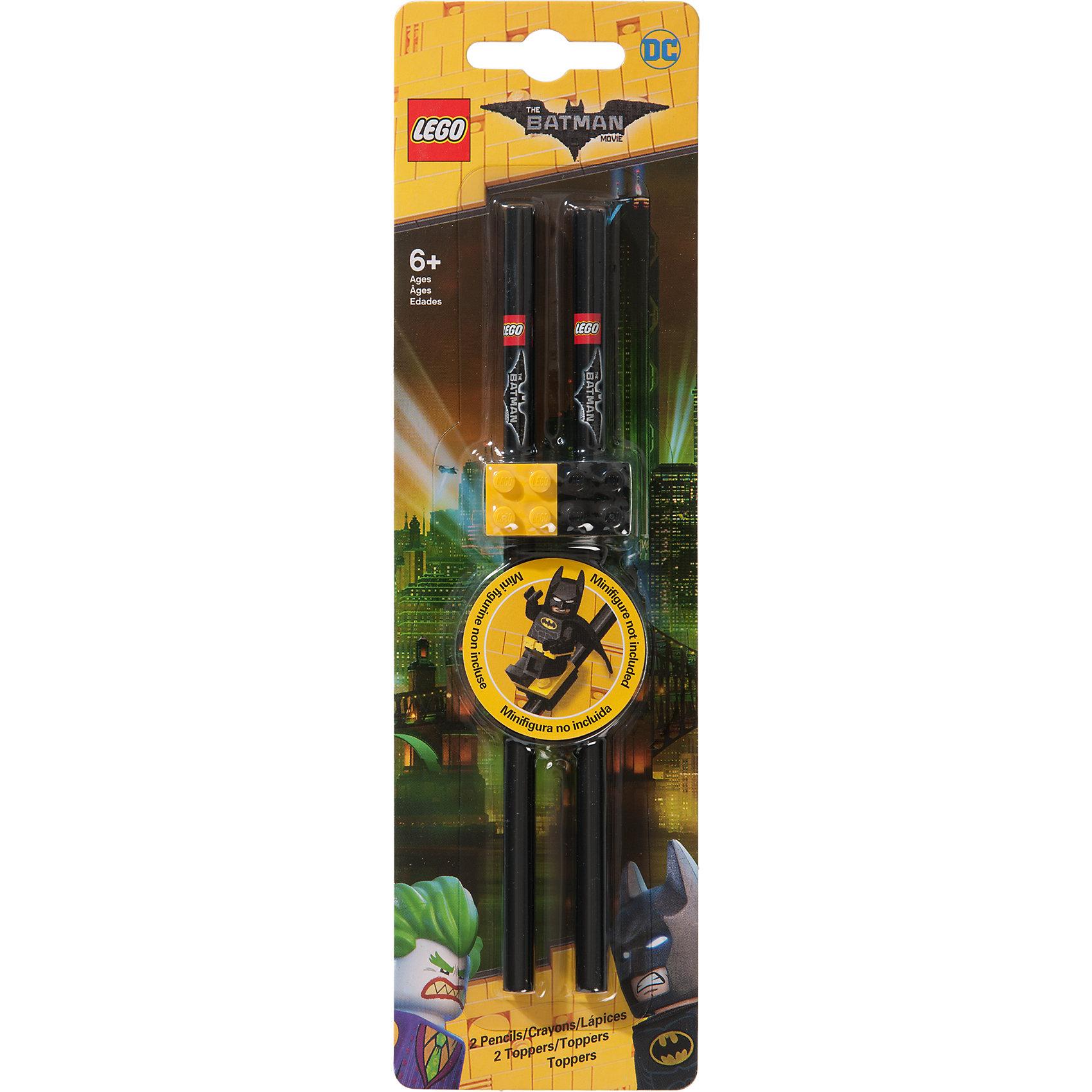 Набор карандашей с насадками в форме кирпичика, 2 шт., LEGOНабор состоит из 2-х карандашей с твёрдо-мягким грифелем и 2-х насадок (топперов) в форме кирпичика LEGO.<br><br>Ширина мм: 248<br>Глубина мм: 73<br>Высота мм: 20<br>Вес г: 31<br>Возраст от месяцев: 60<br>Возраст до месяцев: 144<br>Пол: Мужской<br>Возраст: Детский<br>SKU: 5087606