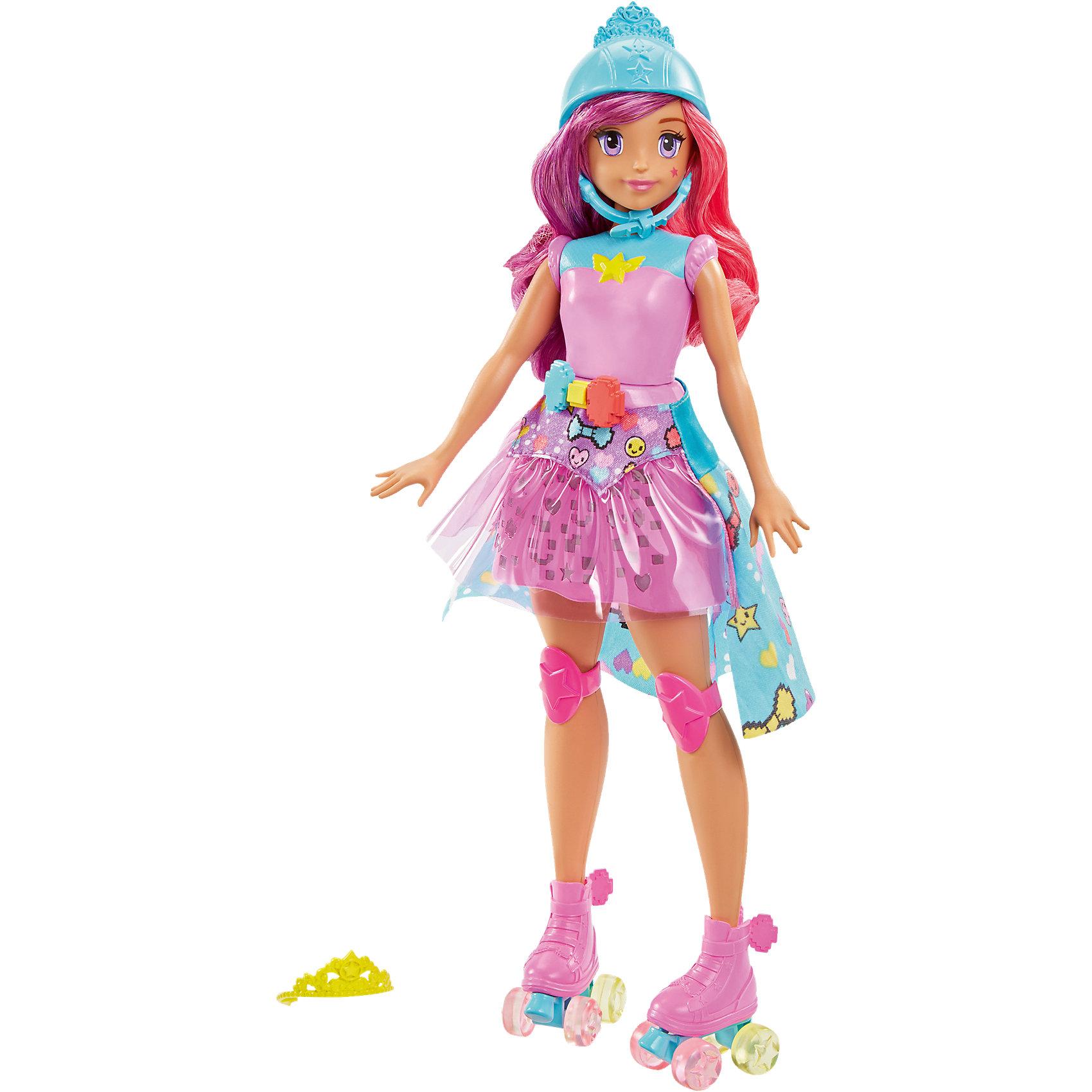 Кукла «Повтори цвета» из серии «Barbie и виртуальный мир»Barbie<br>Кукла «Повтори цвета» из серии «Barbie и виртуальный мир», (Барби)<br><br>Характеристики:<br><br>• юбка куклы светится тремя цветами<br>• 5 уровней сложности игры<br>• светящиеся ролики<br>• в комплекте: кукла, аксессуары<br>• материал: пластик, текстиль<br>• размер упаковки: 33х22х6 см<br>• вес: 345 грамм<br><br>Кукла Повтори цвета из серии «Barbie и виртуальный мир» - настоящий подарок для любительниц ярких игрушек. Юбка Барби светится несколькими огоньками, предлагая повторить последовательность с помощью кнопочек. Всего есть 5 встроенных уровней игры. Помимо светящейся юбки, Барби одета в яркие ролики, которые также светятся при движении. Кукла одета в розовое трико и наколенники; голова украшена защитным шлемом, который можно заменить прекрасной тиарой. С этой куклой девочка сможет придумать самую интересную и волшебную игру, дарящую море положительных эмоций!<br><br>Куклу «Повтори цвета» из серии «Barbie и виртуальный мир», (Барби) вы можете купить в нашем интернет-магазине.<br><br>Ширина мм: 326<br>Глубина мм: 226<br>Высота мм: 63<br>Вес г: 349<br>Возраст от месяцев: 36<br>Возраст до месяцев: 72<br>Пол: Женский<br>Возраст: Детский<br>SKU: 5089096