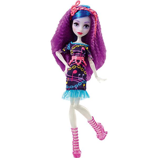 Неоновая монстряшка Ари Хантингтон из серии Под напряжением, Monster HighКуклы<br>Характеристики товара:<br><br>• имя куклы: Ари Хантингтон<br>• комплектация: кукла, одежда, аксессуары<br>• материал: пластик, текстиль<br>• серия: Под напряжением<br>• руки, ноги гнутся<br>• высота куклы: 27 см<br>• возраст: от 6 лет<br>• размер упаковки: 32 x 16 x 7 см<br>• вес: 0,3 кг<br>• страна бренда: США<br><br>Такая современная кукла порадует маленьких любительниц мультфильмов про мир Monster High. Костюм героини мультфильма дополняет обувь и аксессуары. Руки и ноги гнутся, из длинных волос можно делать прически! Кукла Ари Хантингтон из серии Под напряжением, Monster High, станет великолепным подарком для девочек.<br><br>Игры с куклами помогают девочкам отработать сценарии поведения в обществе, развить воображение и мелкую моторику. Изделие произведено из безопасных для детей материалов. Куклы Monster High от бренда Mattel не перестают быть популярными у современных девочек! <br><br>Куклу Неоновая монстряшка Ари Хантингтон из серии Под напряжением, Monster High, от компании Mattel можно купить в нашем интернет-магазине.<br>Ширина мм: 328; Глубина мм: 154; Высота мм: 68; Вес г: 170; Возраст от месяцев: 72; Возраст до месяцев: 120; Пол: Женский; Возраст: Детский; SKU: 5089101;