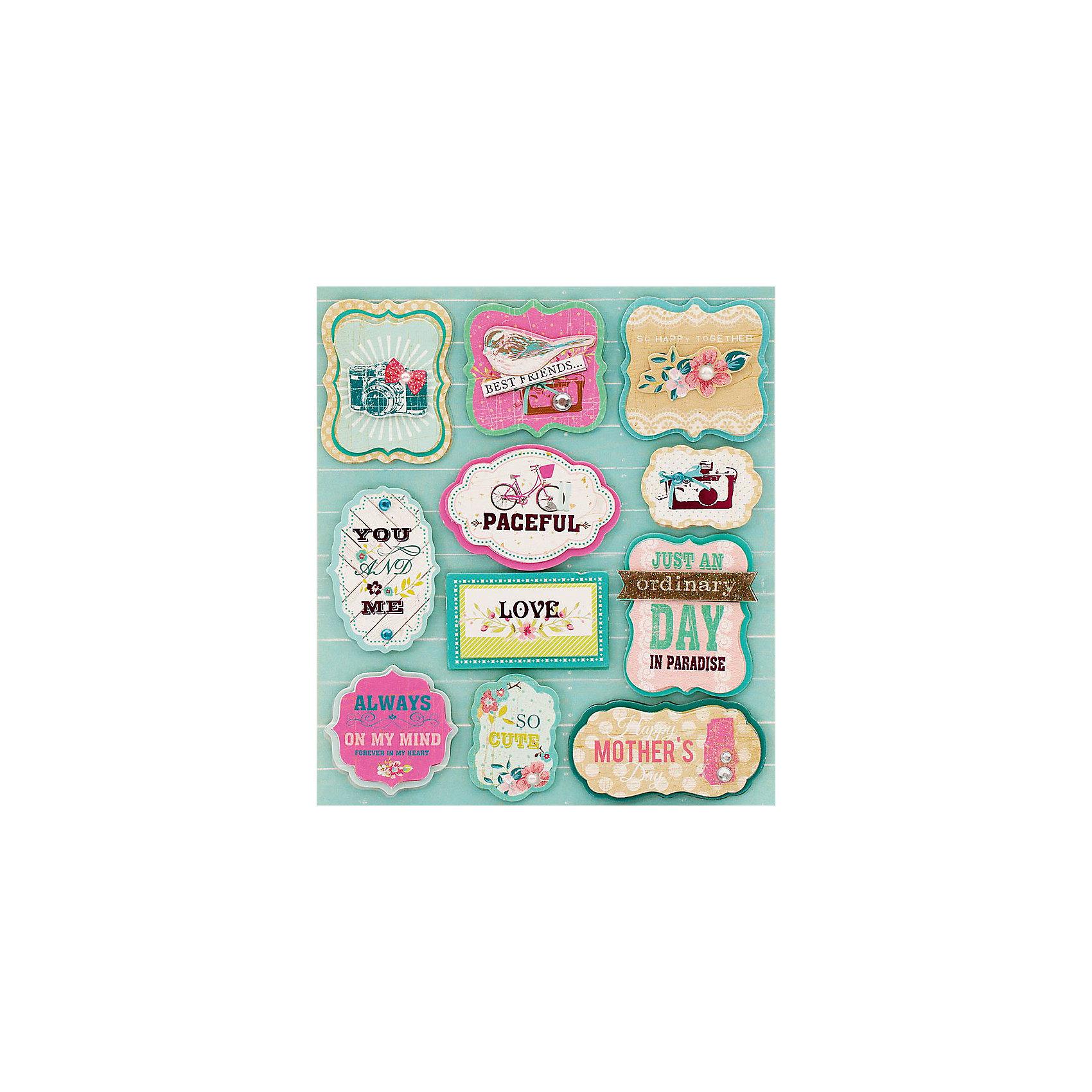 Набор 3D Стикеров Счастливы вместеТворчество для малышей<br>Набор 3D Стикеров Счастливы вместе, Белоснежка.<br><br>Характеристики:<br><br>• подходят в качестве украшений<br>• легко использовать<br>• красивый дизайн<br>• размер листа: 12х14 см<br><br>Счастливы вместе - набор объемных стикеров, предназначенных для украшения дневников, подарков, открыток и многого другого. В набор входят 11 различных стикеров. Они изготовлены из тонкого картона и имеют клейкую подушечку, с помощью которой вы сможете легко прикрепить стикер к поверхности. Красивые стикеры станут прекрасным дополнением  к любимым предметам!<br><br>Набор 3D Стикеров Счастливы вместе вы можете купить в нашем интернет-магазине.<br><br>Ширина мм: 180<br>Глубина мм: 122<br>Высота мм: 5<br>Вес г: 40<br>Возраст от месяцев: 72<br>Возраст до месяцев: 144<br>Пол: Женский<br>Возраст: Детский<br>SKU: 5089608
