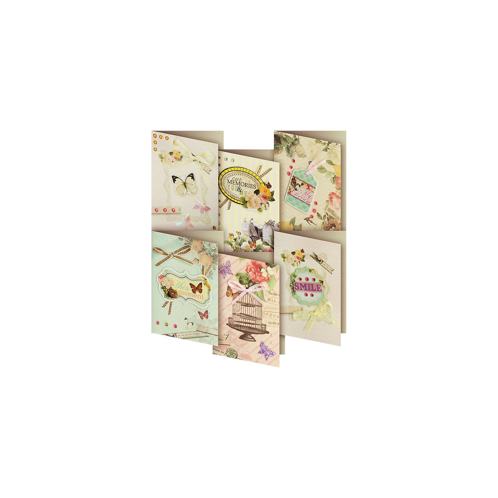 Скрапбукинг-набор для создания 6-ти мини открыток ПодарочныйСкрапбукинг-набор для создания 6-ти мини открыток Подарочный, Белоснежка.<br><br>Характеристики:<br><br>• содержит всё необходимое для создания открытки. <br>• в комплекте: 6 основ для открытки, 6 конвертов, картон, клеевые подушечки, ленты, вырубка из бумаги, пайетки, стразы<br>• размер: 6,5х9 см<br><br>Подарочный набор - прекрасный вариант для тех, кто любит создавать подарки своими руками. Набор состоит из шести заготовок для открыток и всех необходимых декоративных элементов. Пользуйтесь подсказками или используйте свою фантазию - результат непременно порадует вас!<br><br>Скрапбукинг-набор для создания 6-ти мини открыток Подарочный можно купить в нашем интернет-магазине.<br><br>Ширина мм: 270<br>Глубина мм: 150<br>Высота мм: 60<br>Вес г: 80<br>Возраст от месяцев: 72<br>Возраст до месяцев: 144<br>Пол: Женский<br>Возраст: Детский<br>SKU: 5089621