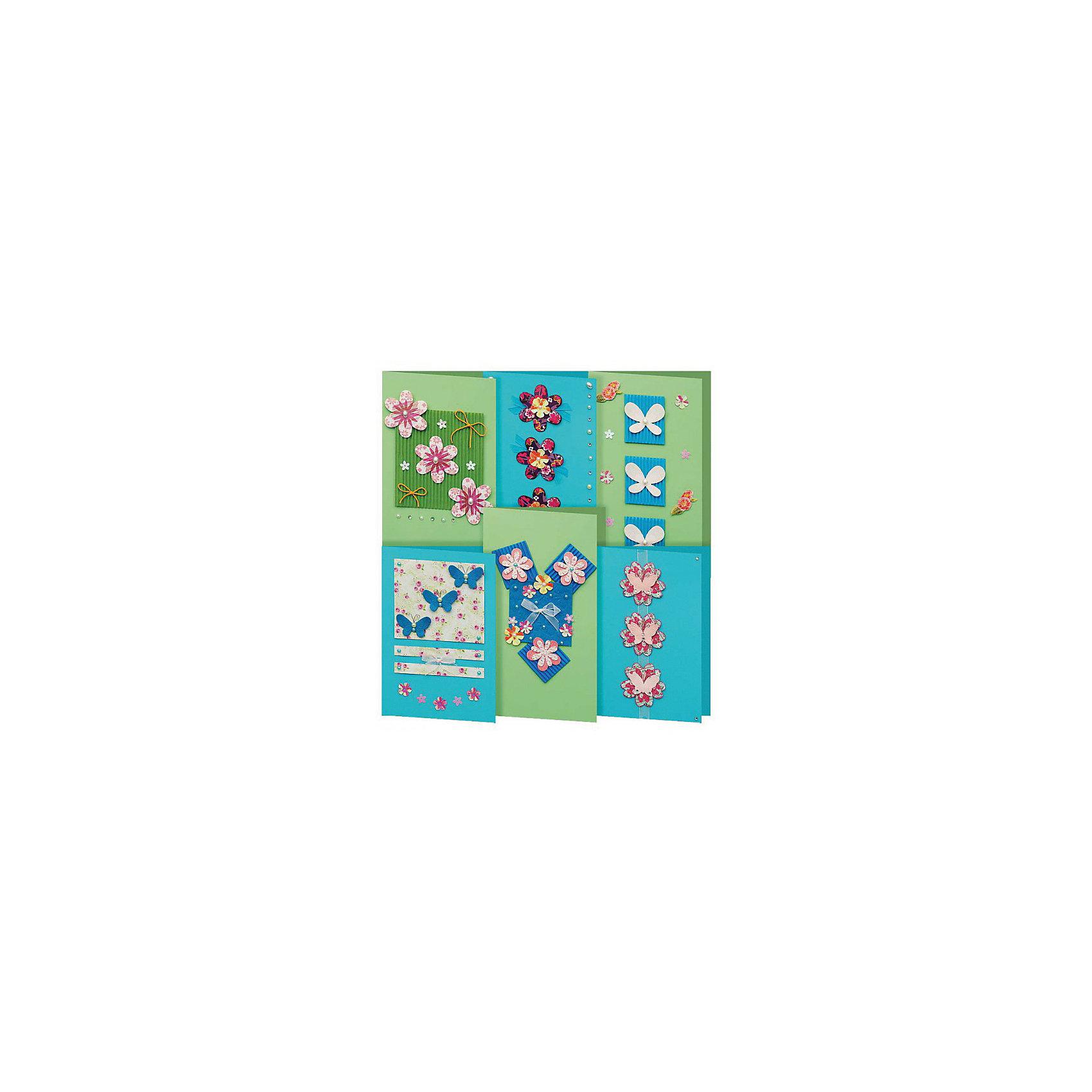Скрапбукинг-набор для создания 6-ти открыток АквамаринСкрапбукинг-набор для создания 6-ти открыток Аквамарин, Белоснежка.<br><br>Характеристики:<br><br>• содержит всё необходимое для создания открытки. <br>• в комплекте: 6 основ для открытки, 6 конвертов, картон, клеевые подушечки, ленты, вырубка из бумаги, пайетки, стразы<br>• размер: 11,5х17 см<br><br>С помощью набора Аквамарин Вы сможете сделать 6 ярких и стильных открыток своими руками. В наборе есть всё, что потребуется для творчества: основы для открыток, декоративные элементы и даже конверты. Вы можете воспользоваться подсказками на упаковке или проявить свою фантазию. Но, в любом случае, результат вас порадует!<br><br>Скрапбукинг-набор для создания 6-ти открыток Аквамарин вы можете купить в нашем интернет-магазине.<br><br>Ширина мм: 270<br>Глубина мм: 150<br>Высота мм: 60<br>Вес г: 292<br>Возраст от месяцев: 72<br>Возраст до месяцев: 144<br>Пол: Женский<br>Возраст: Детский<br>SKU: 5089623
