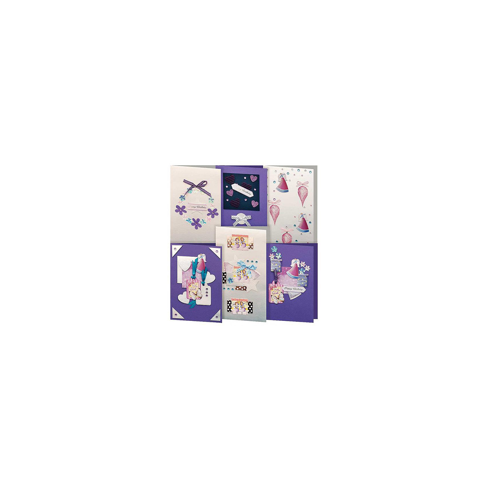 Скрапбукинг-набор для создания 6-ти открыток ПровансНаборы для скрапбукинга<br><br>Ширина мм: 270<br>Глубина мм: 150<br>Высота мм: 60<br>Вес г: 292<br>Возраст от месяцев: 72<br>Возраст до месяцев: 144<br>Пол: Унисекс<br>Возраст: Детский<br>SKU: 5089624