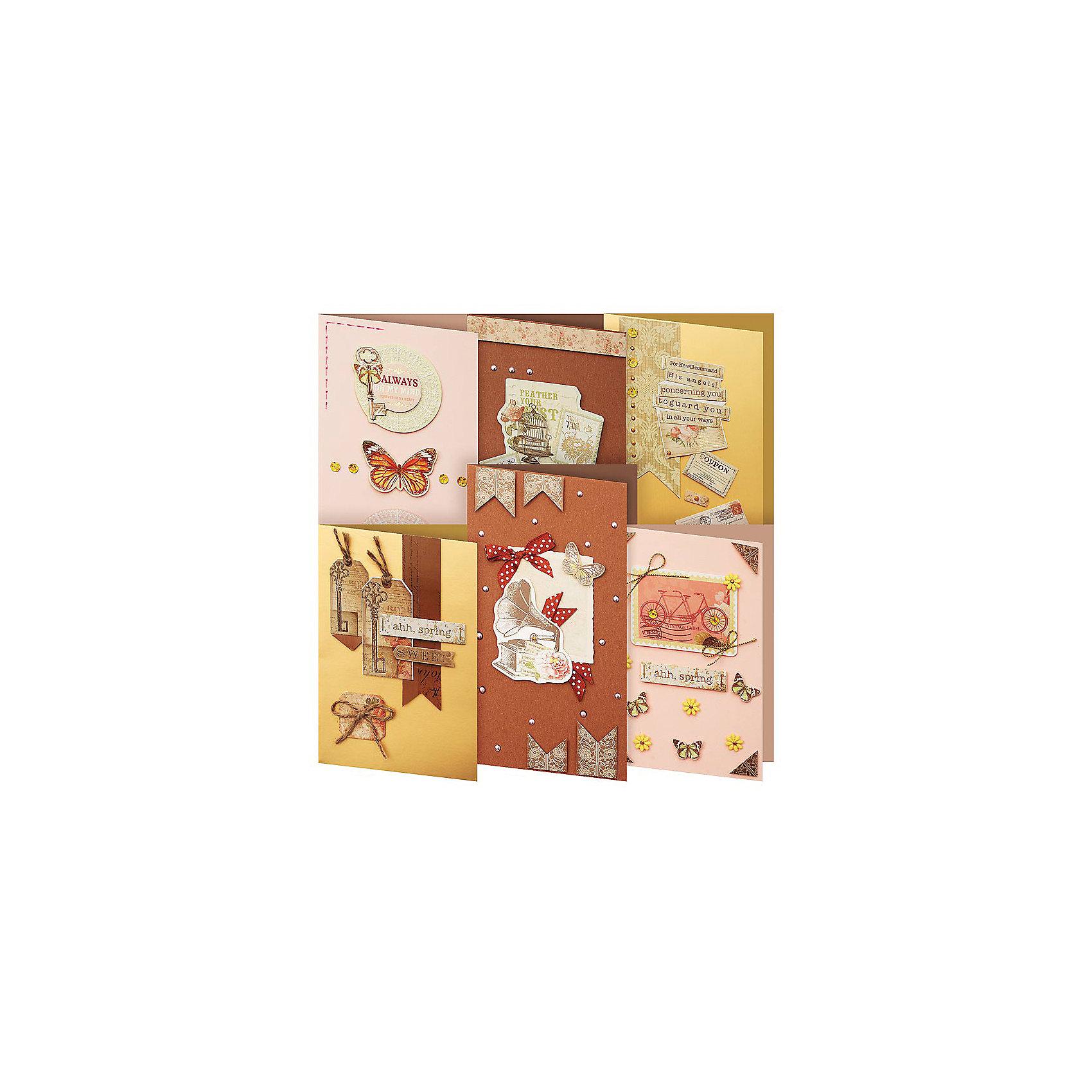 Скрапбукинг-набор для создания 6-ти открыток ШоколадСкрапбукинг-набор для создания 6-ти открыток Шоколад, Белоснежка.<br><br>Характеристики:<br><br>• содержит всё необходимое для создания открытки. <br>• в комплекте: 6 основ для открытки, 6 конвертов, картон, клеевые подушечки, ленты, вырубка из бумаги, пайетки, стразы<br>• размер: 11,5х17 см<br><br>Набор Шоколад содержит 6 основ для открыток и декоративных элементов на любой вкус. Вы сможете создать прекрасные открытки своими руками. Набор подходит даже для начинающих, ведь инструкция на упаковке подробно расскажет вам о процессе создания открыток. Ваши близкие по достоинству оценят подарки, сделанные своими руками!<br><br>Скрапбукинг-набор для создания 6-ти открыток Шоколад вы можете купить в нашем интернет-магазине.<br><br>Ширина мм: 270<br>Глубина мм: 150<br>Высота мм: 60<br>Вес г: 274<br>Возраст от месяцев: 72<br>Возраст до месяцев: 144<br>Пол: Женский<br>Возраст: Детский<br>SKU: 5089625