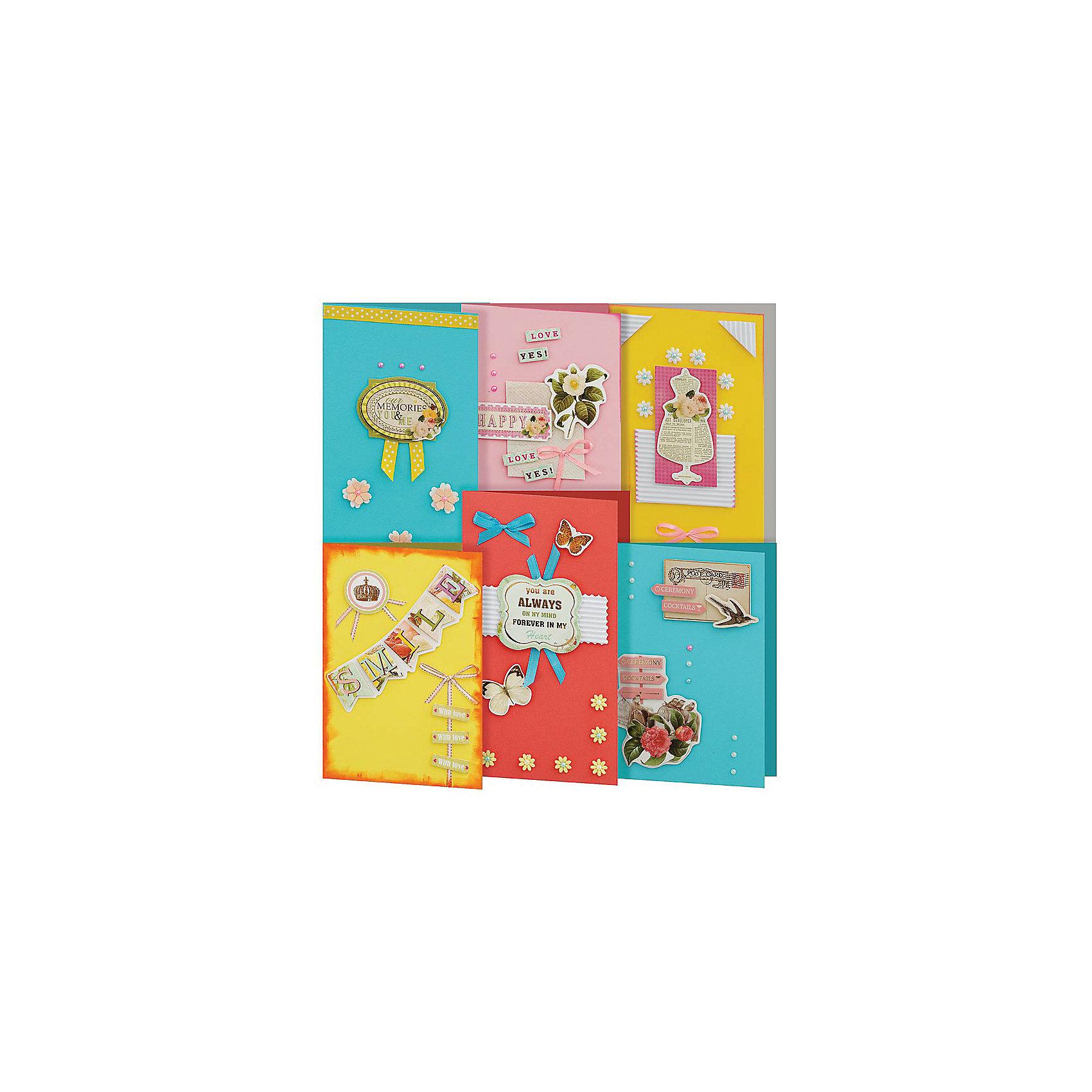 Скрапбукинг-набор для создания 6-ти открыток ПринцессаСкрапбукинг-набор для создания 6-ти открыток Принцесса, Белоснежка.<br><br>Характеристики:<br><br>• содержит всё необходимое для создания открытки. <br>• в комплекте: 6 основ для открытки, 6 конвертов, картон, клеевые подушечки, ленты, вырубка из бумаги, пайетки, стразы<br>• размер: 11,5х17 см<br><br>С помощью набора Принцесса Вы сможете сделать 6 ярких и стильных открыток своими руками. В наборе есть всё, что потребуется для творчества: основы для открыток, декоративные элементы и даже конверты. Вы можете воспользоваться подсказками на упаковке или проявить свою фантазию. Но, в любом случае, результат вас порадует!<br><br>Скрапбукинг-набор для создания 6-ти открыток Принцесса вы можете купить в нашем интернет-магазине.<br><br>Ширина мм: 270<br>Глубина мм: 150<br>Высота мм: 60<br>Вес г: 280<br>Возраст от месяцев: 72<br>Возраст до месяцев: 144<br>Пол: Женский<br>Возраст: Детский<br>SKU: 5089626
