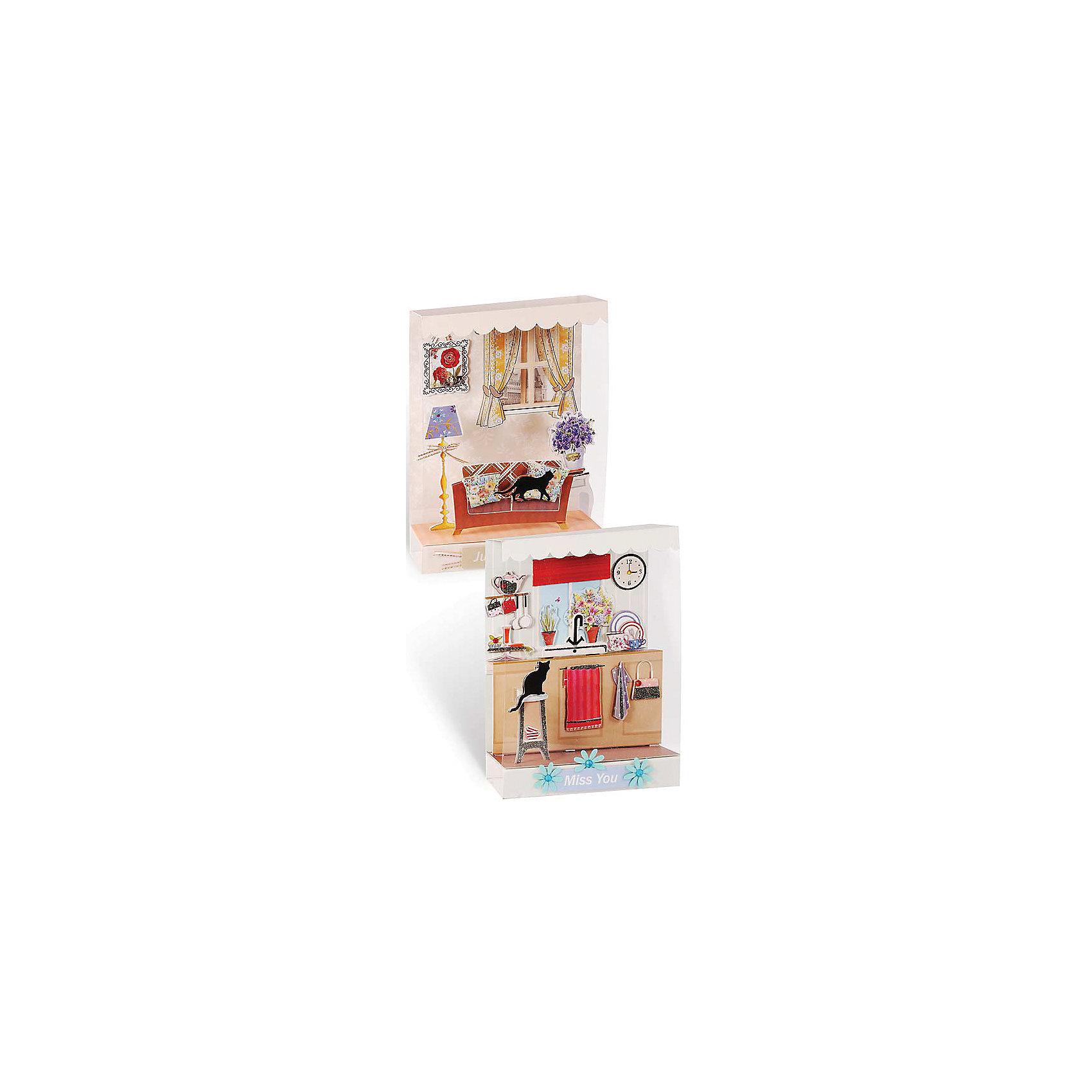 Скрапбукинг-набор для создания миниатюрРукоделие<br>Скрапбукинг-набор для создания миниатюр, Белоснежка.<br><br>Характеристики:<br><br>• вы можете создать объемную миниатюру<br>• в комплекте: 2 витрины, 2 заготовки для миниатюры, пластиковые полоски, клейкие подушечки, ленты, вырубка из бумаги, стразы, пайетки, полубусины<br>• размер: 15х2х40 см<br><br>С помощью набора от компании Белоснежка вы сможете создать объемную миниатюру, которая станет украшением любого дома. Комнаты с объемной мебелью, цветами и очаровательным котиком легко создаст даже ребенок. В набор входят карточки с пожеланиями, прикрепив которые, можно преподнести миниатюру в качестве подарка.<br><br>Вы можете купить скрапбукинг-набор для создания миниатюр, Белоснежка в нашем интернет-магазине.<br><br>Ширина мм: 270<br>Глубина мм: 150<br>Высота мм: 60<br>Вес г: 280<br>Возраст от месяцев: 72<br>Возраст до месяцев: 144<br>Пол: Женский<br>Возраст: Детский<br>SKU: 5089627