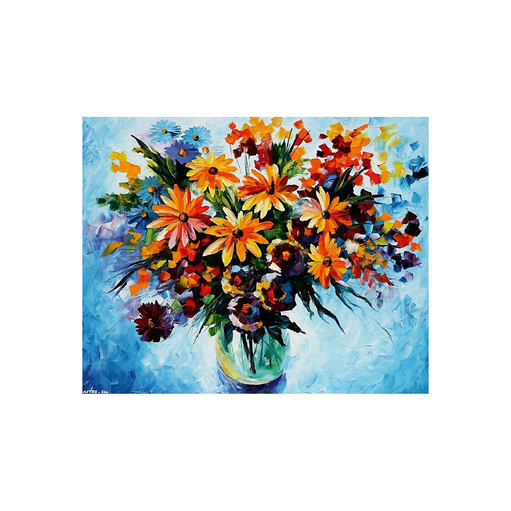 Живопись на холсте 30*40 см Разноцветные ромашкиРаскраски по номерам<br>Характеристики товара:<br><br>• цвет: разноцветный<br>• материал: акрил, картон<br>• размер: 30 x 40 см<br>• комплектация: полотно на подрамнике с контурами рисунка, пробный лист с рисунком, набор акриловых красок, три кисти, крепление на стену для картины<br>• для детей от шести лет и взрослых<br>• не требует специальных навыков<br>• страна бренда: Китай<br>• страна изготовитель: Китай<br><br>Как с удовольствием и пользой провести время? Порисовать! Это занятие, которое любят многие дети и взрослые. Рисование помогает развить важные навыки и просто приносит удовольствие! Чтобы вселить в ребенка уверенность в своих силах, можно предложить ему этот набор - в нем уже есть сюжет, контуры рисунка и участки с номерами, которые обозначают определенную краску из набора. Все оттенки уже готовы, задача художника - аккуратно, с помощью кисточек из набора, нанести краски на определенный участок полотна.<br>Взрослым также понравится этот процесс, рисовать можно и вместе с малышом! В итоге получается красивая картина, которой можно украсить интерьер. Рисование способствует развитию мелкой моторики, воображения, цветовосприятия, творческих способностей и усидчивости. Набор отлично проработан, сделан из качественных и проверенных материалов, которые безопасны для детей. Краски - акриловые, они быстро сохнут и легко смываются с кожи.<br><br>Живопись на холсте 30*40 см Разноцветные ромашки от торговой марки Белоснежка можно купить в нашем интернет-магазине.<br><br>Ширина мм: 410<br>Глубина мм: 310<br>Высота мм: 25<br>Вес г: 567<br>Возраст от месяцев: 72<br>Возраст до месяцев: 144<br>Пол: Унисекс<br>Возраст: Детский<br>SKU: 5089633