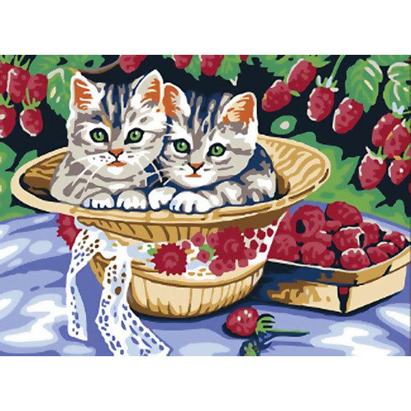 Живопись на холсте 30*40 см Котята в садуРаскраски по номерам<br>Характеристики товара:<br><br>• цвет: разноцветный<br>• материал: акрил, картон<br>• размер: 30 x 40 см<br>• комплектация: полотно на подрамнике с контурами рисунка, пробный лист с рисунком, набор акриловых красок, три кисти, крепление на стену для картины<br>• для детей от шести лет и взрослых<br>• не требует специальных навыков<br>• страна бренда: Китай<br>• страна изготовитель: Китай<br><br>Рисование - это занятие, которое любят многие дети и взрослые. Оно помогает развить важные навыки и просто приносит удовольствие! Чтобы вселить в ребенка уверенность в своих силах, можно предложить ему этот набор - в нем уже есть сюжет, контуры рисунка и участки с номерами, которые обозначают определенную краску из набора. Все оттенки уже готовы, задача художника - аккуратно, с помощью кисточек из набора, нанести краски на определенный участок полотна.<br>Взрослым также понравится этот процесс, рисовать можно и вместе с малышом! В итоге получается красивая картина, которой можно украсить интерьер. Рисование способствует развитию мелкой моторики, воображения, цветовосприятия, творческих способностей и усидчивости. Набор отлично проработан, сделан из качественных и проверенных материалов, которые безопасны для детей. Краски - акриловые, они быстро сохнут и легко смываются с кожи.<br><br>Живопись на холсте 30*40 см Котята в саду от торговой марки Белоснежка можно купить в нашем интернет-магазине.<br><br>Ширина мм: 410<br>Глубина мм: 310<br>Высота мм: 25<br>Вес г: 567<br>Возраст от месяцев: 72<br>Возраст до месяцев: 144<br>Пол: Унисекс<br>Возраст: Детский<br>SKU: 5089634