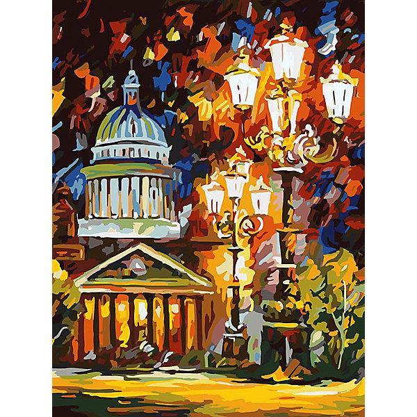 Живопись на холсте 30*40 см Мерцание ночи Санкт-ПетербургаРаскраски по номерам<br>Характеристики товара:<br><br>• цвет: разноцветный<br>• материал: акрил, картон<br>• размер: 30 x 40 см<br>• комплектация: полотно на подрамнике с контурами рисунка, пробный лист с рисунком, набор акриловых красок, три кисти, крепление на стену для картины<br>• для детей от шести лет и взрослых<br>• не требует специальных навыков<br>• страна бренда: Китай<br>• страна изготовитель: Китай<br><br>Рисование - это занятие, которое любят многие дети и взрослые. Оно помогает развить важные навыки и просто приносит удовольствие! Чтобы вселить в ребенка уверенность в своих силах, можно предложить ему этот набор - в нем уже есть сюжет, контуры рисунка и участки с номерами, которые обозначают определенную краску из набора. Все оттенки уже готовы, задача художника - аккуратно, с помощью кисточек из набора, нанести краски на определенный участок полотна.<br>Взрослым также понравится этот процесс, рисовать можно и вместе с малышом! В итоге получается красивая картина, которой можно украсить интерьер. Рисование способствует развитию мелкой моторики, воображения, цветовосприятия, творческих способностей и усидчивости. Набор отлично проработан, сделан из качественных и проверенных материалов, которые безопасны для детей. Краски - акриловые, они быстро сохнут и легко смываются с кожи.<br><br>Живопись на холсте 30*40 см Мерцание ночи Санкт-Петербурга от торговой марки Белоснежка можно купить в нашем интернет-магазине.<br><br>Ширина мм: 410<br>Глубина мм: 310<br>Высота мм: 25<br>Вес г: 567<br>Возраст от месяцев: 72<br>Возраст до месяцев: 144<br>Пол: Унисекс<br>Возраст: Детский<br>SKU: 5089640