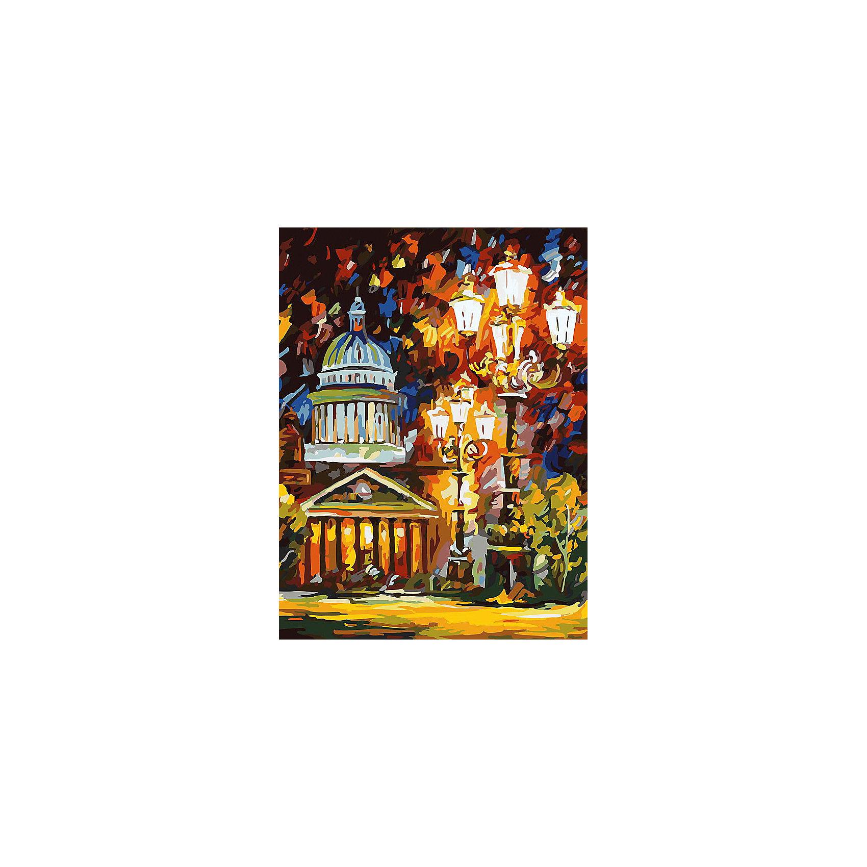 Живопись на холсте 30*40 см Мерцание ночи Санкт-ПетербургаРисование<br>Характеристики товара:<br><br>• цвет: разноцветный<br>• материал: акрил, картон<br>• размер: 30 x 40 см<br>• комплектация: полотно на подрамнике с контурами рисунка, пробный лист с рисунком, набор акриловых красок, три кисти, крепление на стену для картины<br>• для детей от шести лет и взрослых<br>• не требует специальных навыков<br>• страна бренда: Китай<br>• страна изготовитель: Китай<br><br>Рисование - это занятие, которое любят многие дети и взрослые. Оно помогает развить важные навыки и просто приносит удовольствие! Чтобы вселить в ребенка уверенность в своих силах, можно предложить ему этот набор - в нем уже есть сюжет, контуры рисунка и участки с номерами, которые обозначают определенную краску из набора. Все оттенки уже готовы, задача художника - аккуратно, с помощью кисточек из набора, нанести краски на определенный участок полотна.<br>Взрослым также понравится этот процесс, рисовать можно и вместе с малышом! В итоге получается красивая картина, которой можно украсить интерьер. Рисование способствует развитию мелкой моторики, воображения, цветовосприятия, творческих способностей и усидчивости. Набор отлично проработан, сделан из качественных и проверенных материалов, которые безопасны для детей. Краски - акриловые, они быстро сохнут и легко смываются с кожи.<br><br>Живопись на холсте 30*40 см Мерцание ночи Санкт-Петербурга от торговой марки Белоснежка можно купить в нашем интернет-магазине.<br><br>Ширина мм: 410<br>Глубина мм: 310<br>Высота мм: 25<br>Вес г: 567<br>Возраст от месяцев: 72<br>Возраст до месяцев: 144<br>Пол: Унисекс<br>Возраст: Детский<br>SKU: 5089640