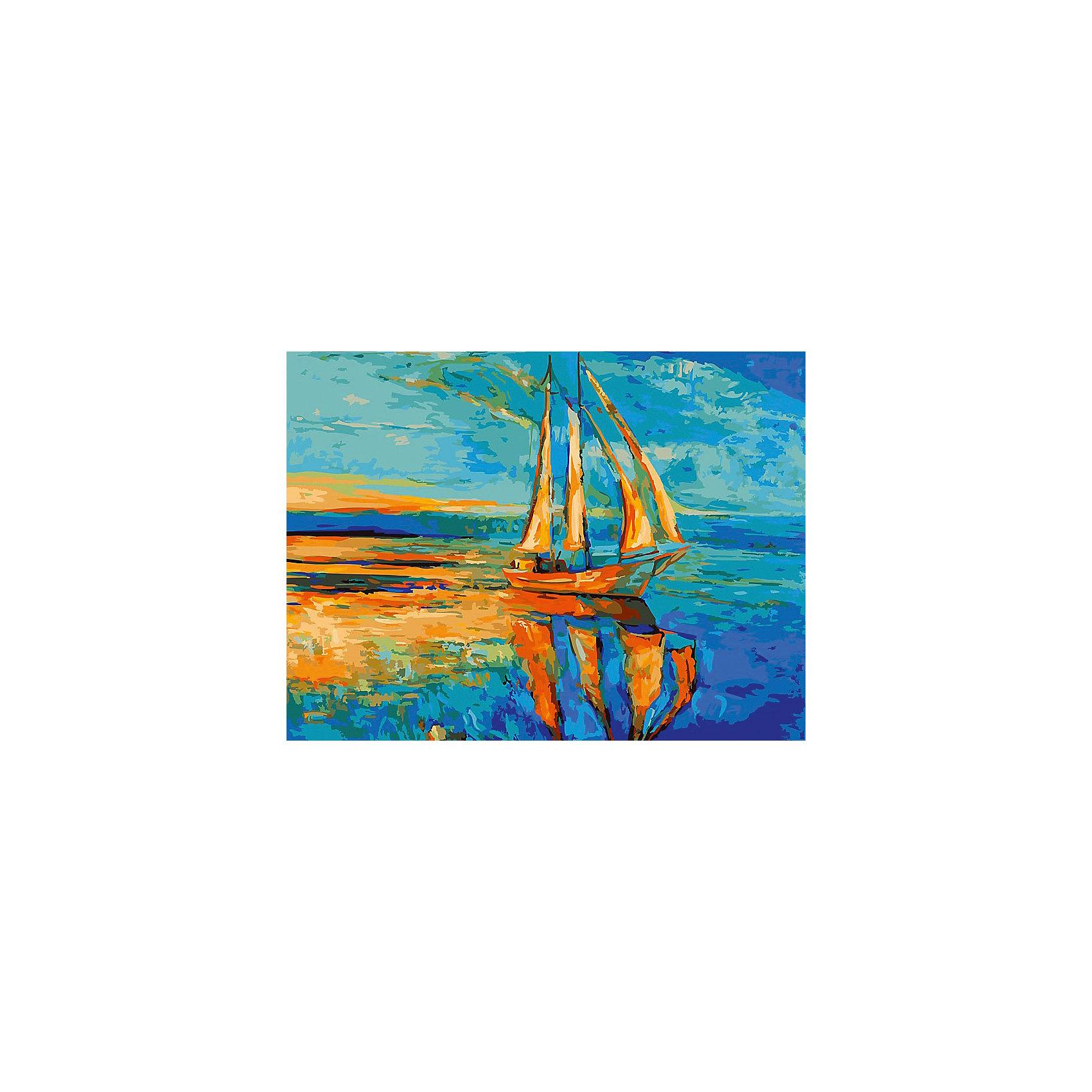 Живопись на холсте 30*40 см Под парусамиРисование<br>Характеристики товара:<br><br>• цвет: разноцветный<br>• материал: акрил, картон<br>• размер: 30 x 40 см<br>• комплектация: полотно на подрамнике с контурами рисунка, пробный лист с рисунком, набор акриловых красок, три кисти, крепление на стену для картины<br>• для детей от шести лет и взрослых<br>• не требует специальных навыков<br>• страна бренда: Китай<br>• страна изготовитель: Китай<br><br>Как с удовольствием и пользой провести время? Порисовать! Это занятие, которое любят многие дети и взрослые. Рисование помогает развить важные навыки и просто приносит удовольствие! Чтобы вселить в ребенка уверенность в своих силах, можно предложить ему этот набор - в нем уже есть сюжет, контуры рисунка и участки с номерами, которые обозначают определенную краску из набора. Все оттенки уже готовы, задача художника - аккуратно, с помощью кисточек из набора, нанести краски на определенный участок полотна.<br>Взрослым также понравится этот процесс, рисовать можно и вместе с малышом! В итоге получается красивая картина, которой можно украсить интерьер. Рисование способствует развитию мелкой моторики, воображения, цветовосприятия, творческих способностей и усидчивости. Набор отлично проработан, сделан из качественных и проверенных материалов, которые безопасны для детей. Краски - акриловые, они быстро сохнут и легко смываются с кожи.<br><br>Живопись на холсте 30*40 см Под парусами от торговой марки Белоснежка можно купить в нашем интернет-магазине.<br><br>Ширина мм: 410<br>Глубина мм: 310<br>Высота мм: 25<br>Вес г: 567<br>Возраст от месяцев: 72<br>Возраст до месяцев: 144<br>Пол: Унисекс<br>Возраст: Детский<br>SKU: 5089643