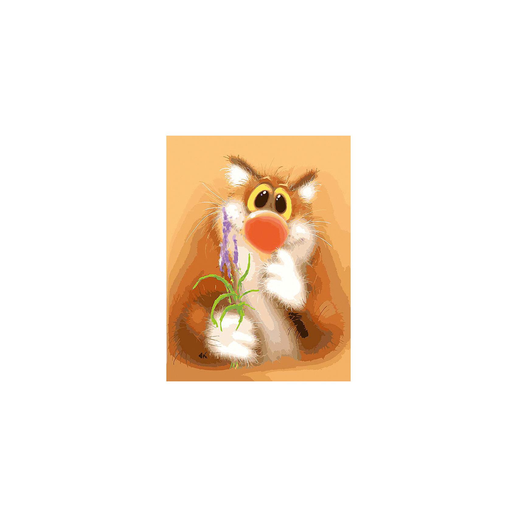 Белоснежка Живопись на холсте 30*40 см Обаятельный котик