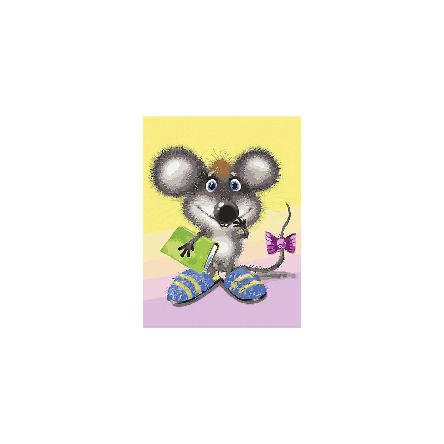 Живопись на холсте Ученый мышонок 30*40 смРаскраски по номерам<br>Характеристики:<br><br>• Предназначение: для занятий художественным творчеством<br>• Тематика: животные<br>• Пол: универсальный<br>• Материал: дерево, бумага, краски<br>• Цвет: серый, белый, зеленый, голубой, желтый, коричневый и др.<br>• Комплектация: холст на подрамнике, набор акриловых красок, 3 кисти, пробный лист с нанесенным рисунком, крепление для готовой картины, инструкция<br>• Размеры (Ш*Д): 30*40 см<br>• Вес: 480 г <br>• Упаковка: картонная коробка<br><br>Живопись на холсте 30*40 см Ученый мышонок – это набор от торговой марки Белоснежка, специализирующейся на товарах для творчества и рукоделия. Комплект для живописи состоит из черно-белого холста на подрамнике из дерева, набора необходимых акриловых красок, трех кистей разного размера и пробного листа. На холст и пробный лист нанесен рисунок с указанием номера соответствующей цвету краски. Акриловые краски хорошо ложатся на холст, не растекаются и не смешиваются, что делает их идеальными для начинающих художников. Все материалы, используемые в наборе, экологичные и натуральные. Готовые наборы научат вашего ребенка сочетать цвета и оттенки, действовать по заданному образцу, будут способствовать развитию внимательности, усидчивости и зрительному восприятию. <br>Занятия художественным творчеством являются не только средством творческого и эстетического развития, но также воспитания и коррекции эмоциональных комплексов у детей. <br><br>С наборами живописи на холсте от Белоснежки можно создать свою галерею картин или подготовить подарок родным и близким к празднованию торжества.<br><br>Живопись на холсте 30*40 см Ученый мышонок можно купить в нашем интернет-магазине.<br><br>Ширина мм: 410<br>Глубина мм: 310<br>Высота мм: 25<br>Вес г: 567<br>Возраст от месяцев: 72<br>Возраст до месяцев: 144<br>Пол: Женский<br>Возраст: Детский<br>SKU: 5089648