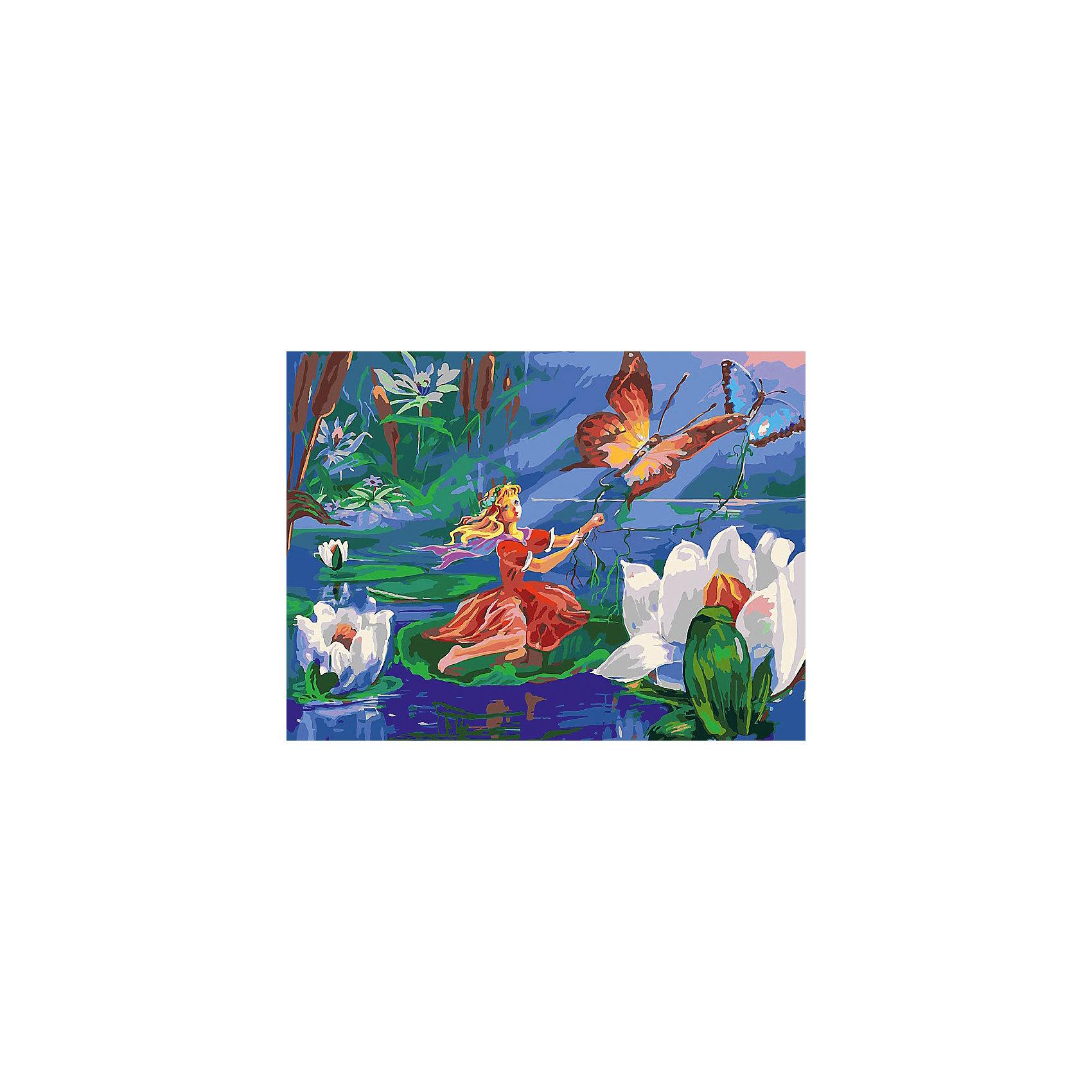 Живопись на холсте 30*40 см Маленькая путешественницаРисование<br>Характеристики товара:<br><br>• цвет: разноцветный<br>• материал: акрил, картон<br>• размер: 30 x 40 см<br>• комплектация: полотно на подрамнике с контурами рисунка, пробный лист с рисунком, набор акриловых красок, три кисти, крепление на стену для картины<br>• для детей от шести лет и взрослых<br>• не требует специальных навыков<br>• страна бренда: Китай<br>• страна изготовитель: Китай<br><br>Как с удовольствием и пользой провести время? Порисовать! Это занятие, которое любят многие дети и взрослые. Рисование помогает развить важные навыки и просто приносит удовольствие! Чтобы вселить в ребенка уверенность в своих силах, можно предложить ему этот набор - в нем уже есть сюжет, контуры рисунка и участки с номерами, которые обозначают определенную краску из набора. Все оттенки уже готовы, задача художника - аккуратно, с помощью кисточек из набора, нанести краски на определенный участок полотна.<br>Взрослым также понравится этот процесс, рисовать можно и вместе с малышом! В итоге получается красивая картина, которой можно украсить интерьер. Рисование способствует развитию мелкой моторики, воображения, цветовосприятия, творческих способностей и усидчивости. Набор отлично проработан, сделан из качественных и проверенных материалов, которые безопасны для детей. Краски - акриловые, они быстро сохнут и легко смываются с кожи.<br><br>Живопись на холсте 30*40 см Маленькая путешественница от торговой марки Белоснежка можно купить в нашем интернет-магазине.<br><br>Ширина мм: 410<br>Глубина мм: 310<br>Высота мм: 25<br>Вес г: 567<br>Возраст от месяцев: 72<br>Возраст до месяцев: 144<br>Пол: Унисекс<br>Возраст: Детский<br>SKU: 5089652