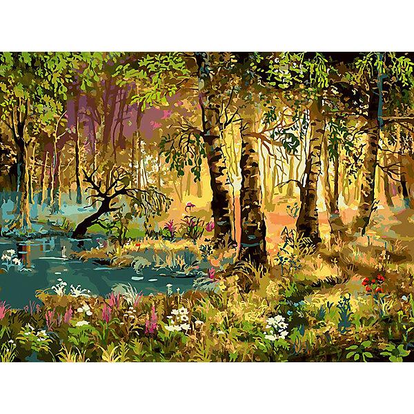 Живопись на холсте 30*40 см Утро в лесуРаскраски по номерам<br>Характеристики товара:<br><br>• цвет: разноцветный<br>• материал: акрил, картон<br>• размер: 30 x 40 см<br>• комплектация: полотно на подрамнике с контурами рисунка, пробный лист с рисунком, набор акриловых красок, три кисти, крепление на стену для картины<br>• для детей от шести лет и взрослых<br>• не требует специальных навыков<br>• страна бренда: Китай<br>• страна изготовитель: Китай<br><br>Рисование - это занятие, которое любят многие дети и взрослые. Оно помогает развить важные навыки и просто приносит удовольствие! Чтобы вселить в ребенка уверенность в своих силах, можно предложить ему этот набор - в нем уже есть сюжет, контуры рисунка и участки с номерами, которые обозначают определенную краску из набора. Все оттенки уже готовы, задача художника - аккуратно, с помощью кисточек из набора, нанести краски на определенный участок полотна.<br>Взрослым также понравится этот процесс, рисовать можно и вместе с малышом! В итоге получается красивая картина, которой можно украсить интерьер. Рисование способствует развитию мелкой моторики, воображения, цветовосприятия, творческих способностей и усидчивости. Набор отлично проработан, сделан из качественных и проверенных материалов, которые безопасны для детей. Краски - акриловые, они быстро сохнут и легко смываются с кожи.<br><br>Живопись на холсте 30*40 см Утро в лесу от торговой марки Белоснежка можно купить в нашем интернет-магазине.<br><br>Ширина мм: 410<br>Глубина мм: 310<br>Высота мм: 25<br>Вес г: 567<br>Возраст от месяцев: 72<br>Возраст до месяцев: 144<br>Пол: Унисекс<br>Возраст: Детский<br>SKU: 5089656