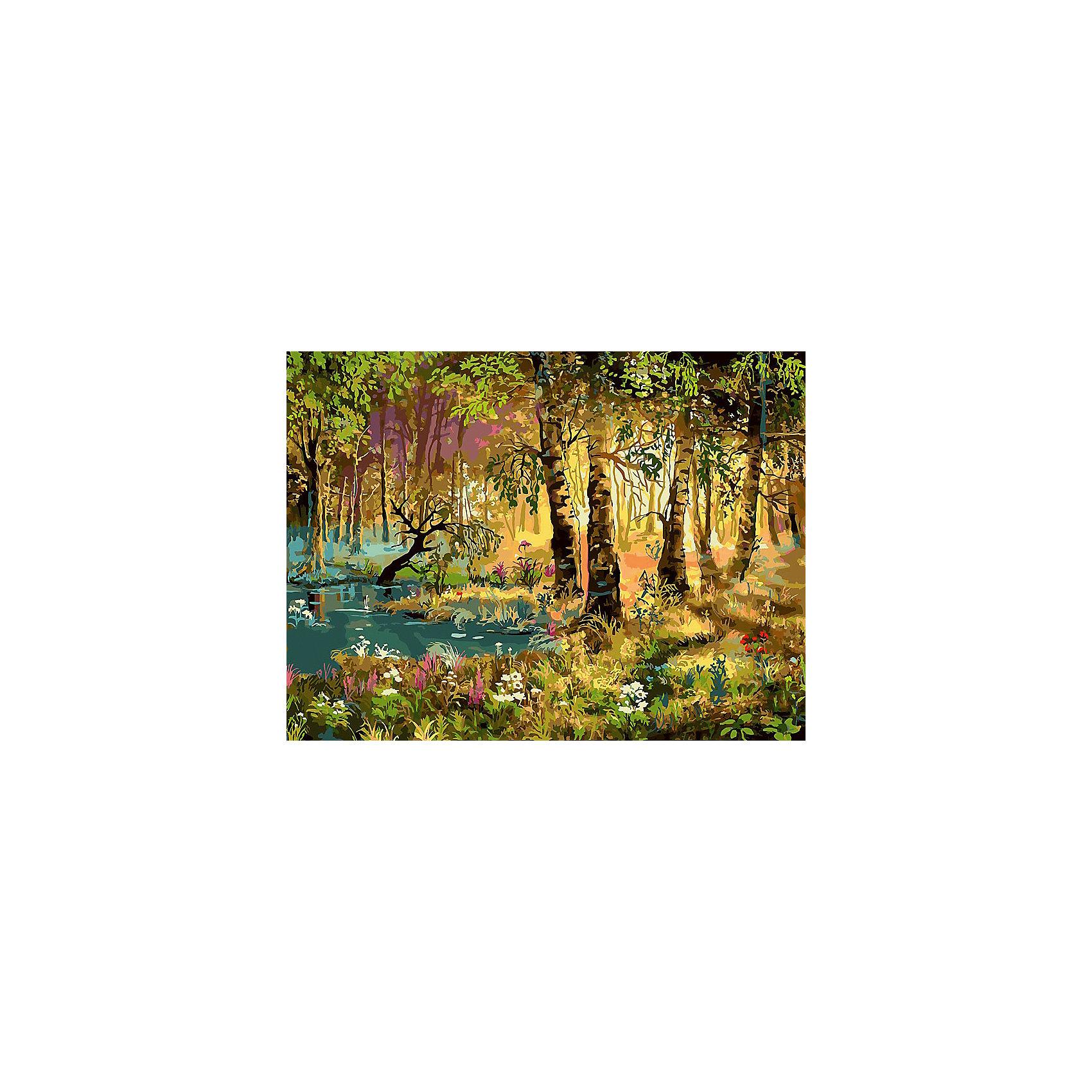 Живопись на холсте 30*40 см Утро в лесуРисование<br>Характеристики товара:<br><br>• цвет: разноцветный<br>• материал: акрил, картон<br>• размер: 30 x 40 см<br>• комплектация: полотно на подрамнике с контурами рисунка, пробный лист с рисунком, набор акриловых красок, три кисти, крепление на стену для картины<br>• для детей от шести лет и взрослых<br>• не требует специальных навыков<br>• страна бренда: Китай<br>• страна изготовитель: Китай<br><br>Рисование - это занятие, которое любят многие дети и взрослые. Оно помогает развить важные навыки и просто приносит удовольствие! Чтобы вселить в ребенка уверенность в своих силах, можно предложить ему этот набор - в нем уже есть сюжет, контуры рисунка и участки с номерами, которые обозначают определенную краску из набора. Все оттенки уже готовы, задача художника - аккуратно, с помощью кисточек из набора, нанести краски на определенный участок полотна.<br>Взрослым также понравится этот процесс, рисовать можно и вместе с малышом! В итоге получается красивая картина, которой можно украсить интерьер. Рисование способствует развитию мелкой моторики, воображения, цветовосприятия, творческих способностей и усидчивости. Набор отлично проработан, сделан из качественных и проверенных материалов, которые безопасны для детей. Краски - акриловые, они быстро сохнут и легко смываются с кожи.<br><br>Живопись на холсте 30*40 см Утро в лесу от торговой марки Белоснежка можно купить в нашем интернет-магазине.<br><br>Ширина мм: 410<br>Глубина мм: 310<br>Высота мм: 25<br>Вес г: 567<br>Возраст от месяцев: 72<br>Возраст до месяцев: 144<br>Пол: Унисекс<br>Возраст: Детский<br>SKU: 5089656