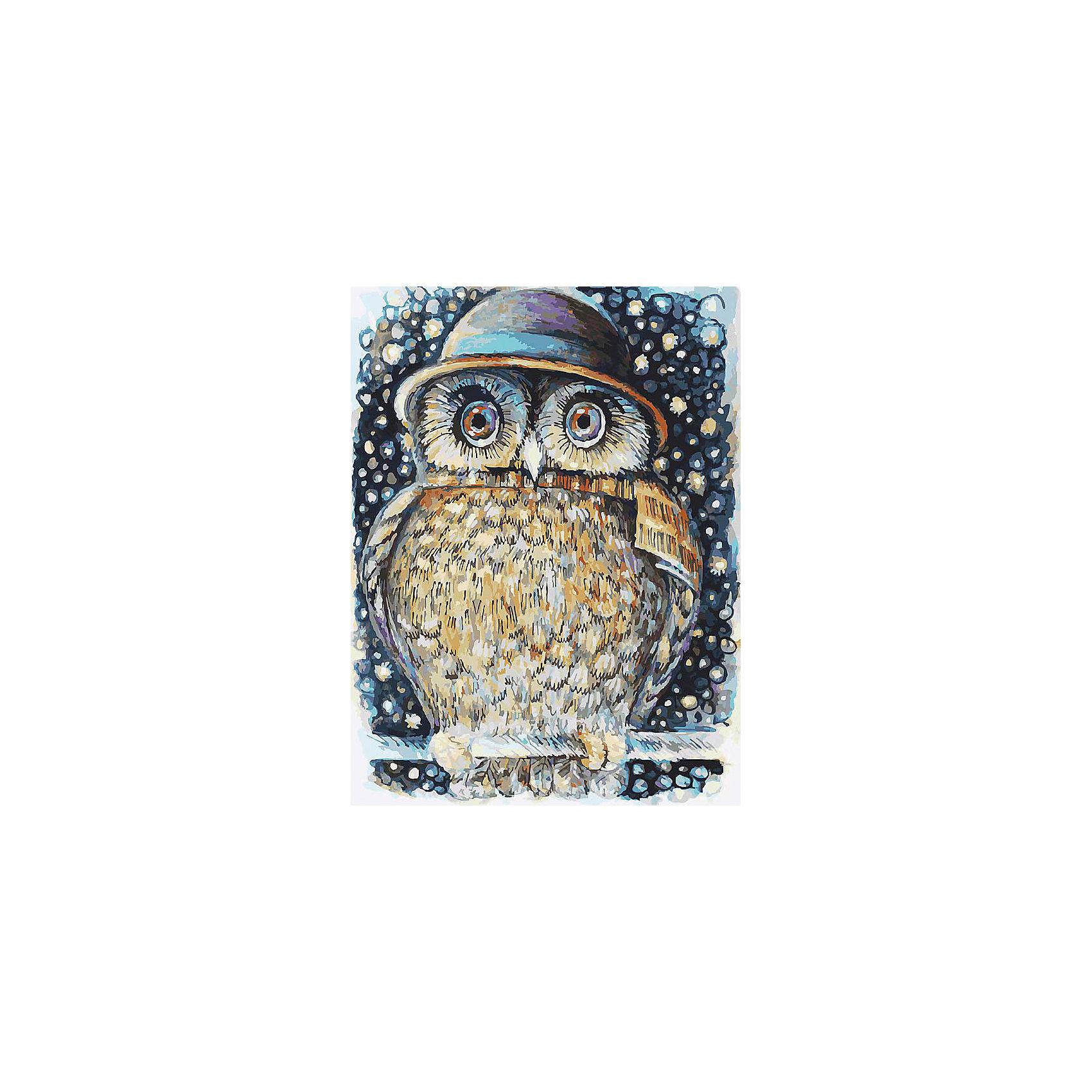 Белоснежка Живопись на холсте 30*40 см Сова в шляпе