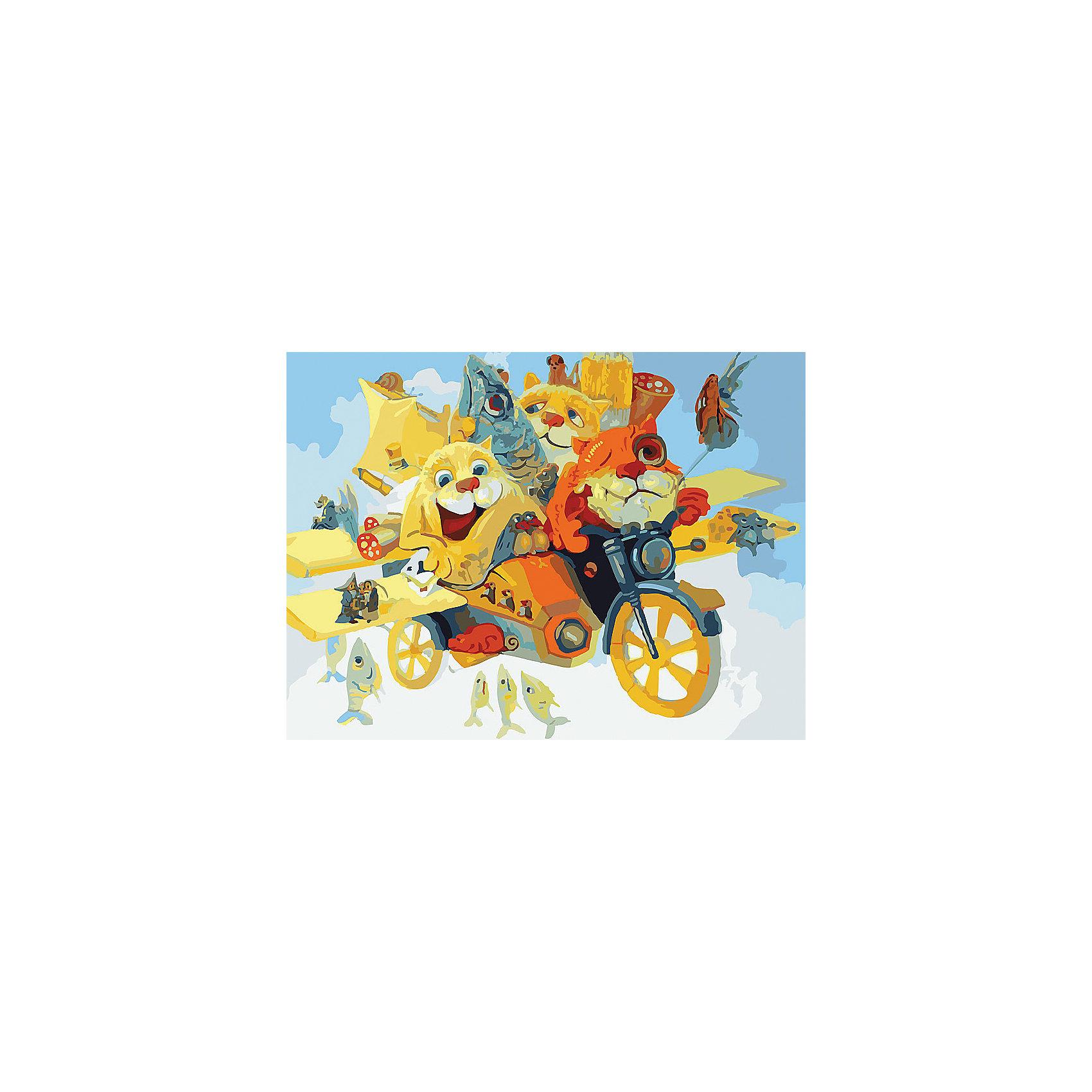 Живопись на холсте 30*40 см КотолётРисование<br>Характеристики товара:<br><br>• цвет: разноцветный<br>• материал: акрил, картон<br>• размер: 30 x 40 см<br>• комплектация: полотно на подрамнике с контурами рисунка, пробный лист с рисунком, набор акриловых красок, три кисти, крепление на стену для картины<br>• для детей от шести лет и взрослых<br>• не требует специальных навыков<br>• страна бренда: Китай<br>• страна изготовитель: Китай<br><br>Рисование - это занятие, которое любят многие дети и взрослые. Оно помогает развить важные навыки и просто приносит удовольствие! Чтобы вселить в ребенка уверенность в своих силах, можно предложить ему этот набор - в нем уже есть сюжет, контуры рисунка и участки с номерами, которые обозначают определенную краску из набора. Все оттенки уже готовы, задача художника - аккуратно, с помощью кисточек из набора, нанести краски на определенный участок полотна.<br>Взрослым также понравится этот процесс, рисовать можно и вместе с малышом! В итоге получается красивая картина, которой можно украсить интерьер. Рисование способствует развитию мелкой моторики, воображения, цветовосприятия, творческих способностей и усидчивости. Набор отлично проработан, сделан из качественных и проверенных материалов, которые безопасны для детей. Краски - акриловые, они быстро сохнут и легко смываются с кожи.<br><br>Живопись на холсте 30*40 см Котолёт от торговой марки Белоснежка можно купить в нашем интернет-магазине.<br><br>Ширина мм: 410<br>Глубина мм: 310<br>Высота мм: 25<br>Вес г: 567<br>Возраст от месяцев: 72<br>Возраст до месяцев: 144<br>Пол: Унисекс<br>Возраст: Детский<br>SKU: 5089662