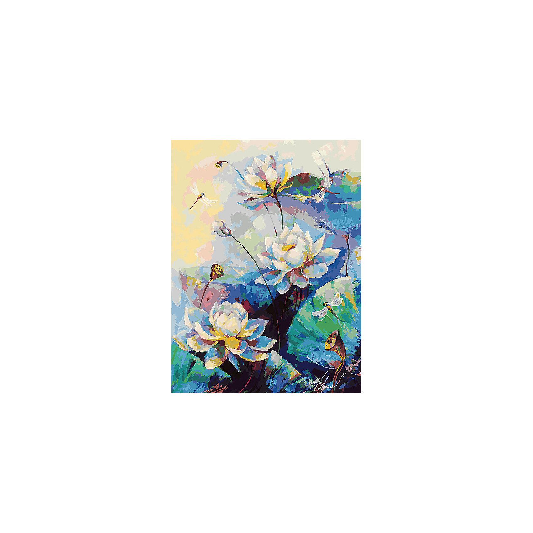 Живопись на холсте 30*40 см ЛотосХарактеристики товара:<br><br>• цвет: разноцветный<br>• материал: акрил, картон<br>• размер: 30 x 40 см<br>• комплектация: полотно на подрамнике с контурами рисунка, пробный лист с рисунком, набор акриловых красок, три кисти, крепление на стену для картины<br>• для детей от шести лет и взрослых<br>• не требует специальных навыков<br>• страна бренда: Китай<br>• страна изготовитель: Китай<br><br>Такой набор станет отличным подарком и для взрослого, и для ребенка! Рисование помогает развить различные навыки и просто приносит удовольствие! Чтобы вселить в ребенка уверенность в своих силах, можно предложить ему этот набор - в нем уже есть сюжет, контуры рисунка и участки с номерами, которые обозначают определенную краску из набора. Все оттенки уже готовы, задача художника - аккуратно, с помощью кисточек из набора, нанести краски на определенный участок полотна.<br>Взрослым также понравится этот процесс, рисовать можно и вместе с малышом! В итоге получается красивая картина, которой можно украсить интерьер. Рисование способствует развитию мелкой моторики, воображения, цветовосприятия, творческих способностей и усидчивости. Набор отлично проработан, сделан из качественных и проверенных материалов, которые безопасны для детей. Краски - акриловые, они быстро сохнут и легко смываются с кожи.<br><br>Живопись на холсте 30*40 см Лотос от торговой марки Белоснежка можно купить в нашем интернет-магазине.<br><br>Ширина мм: 410<br>Глубина мм: 310<br>Высота мм: 25<br>Вес г: 567<br>Возраст от месяцев: 72<br>Возраст до месяцев: 144<br>Пол: Унисекс<br>Возраст: Детский<br>SKU: 5089665