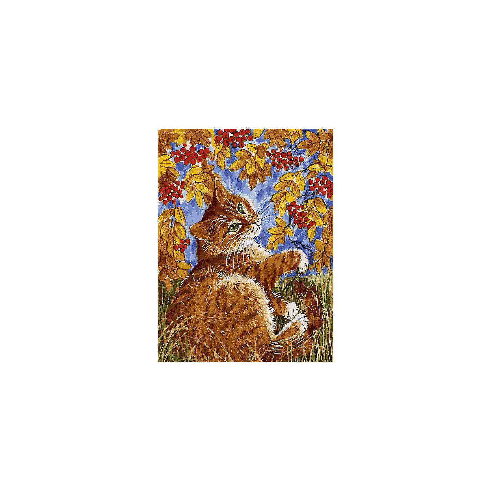 Живопись на холсте 30*40 см Кот с рябинойРаскраски по номерам<br>Характеристики товара:<br><br>• цвет: разноцветный<br>• материал: акрил, картон<br>• размер: 30 x 40 см<br>• комплектация: полотно на подрамнике с контурами рисунка, пробный лист с рисунком, набор акриловых красок, три кисти, крепление на стену для картины<br>• для детей от шести лет и взрослых<br>• не требует специальных навыков<br>• страна бренда: Китай<br>• страна изготовитель: Китай<br><br>Рисование - это занятие, которое любят многие дети и взрослые. Оно помогает развить важные навыки и просто приносит удовольствие! Чтобы вселить в ребенка уверенность в своих силах, можно предложить ему этот набор - в нем уже есть сюжет, контуры рисунка и участки с номерами, которые обозначают определенную краску из набора. Все оттенки уже готовы, задача художника - аккуратно, с помощью кисточек из набора, нанести краски на определенный участок полотна.<br>Взрослым также понравится этот процесс, рисовать можно и вместе с малышом! В итоге получается красивая картина, которой можно украсить интерьер. Рисование способствует развитию мелкой моторики, воображения, цветовосприятия, творческих способностей и усидчивости. Набор отлично проработан, сделан из качественных и проверенных материалов, которые безопасны для детей. Краски - акриловые, они быстро сохнут и легко смываются с кожи.<br><br>Живопись на холсте 30*40 см Кот с рябиной от торговой марки Белоснежка можно купить в нашем интернет-магазине.<br><br>Ширина мм: 410<br>Глубина мм: 310<br>Высота мм: 25<br>Вес г: 567<br>Возраст от месяцев: 72<br>Возраст до месяцев: 144<br>Пол: Унисекс<br>Возраст: Детский<br>SKU: 5089671