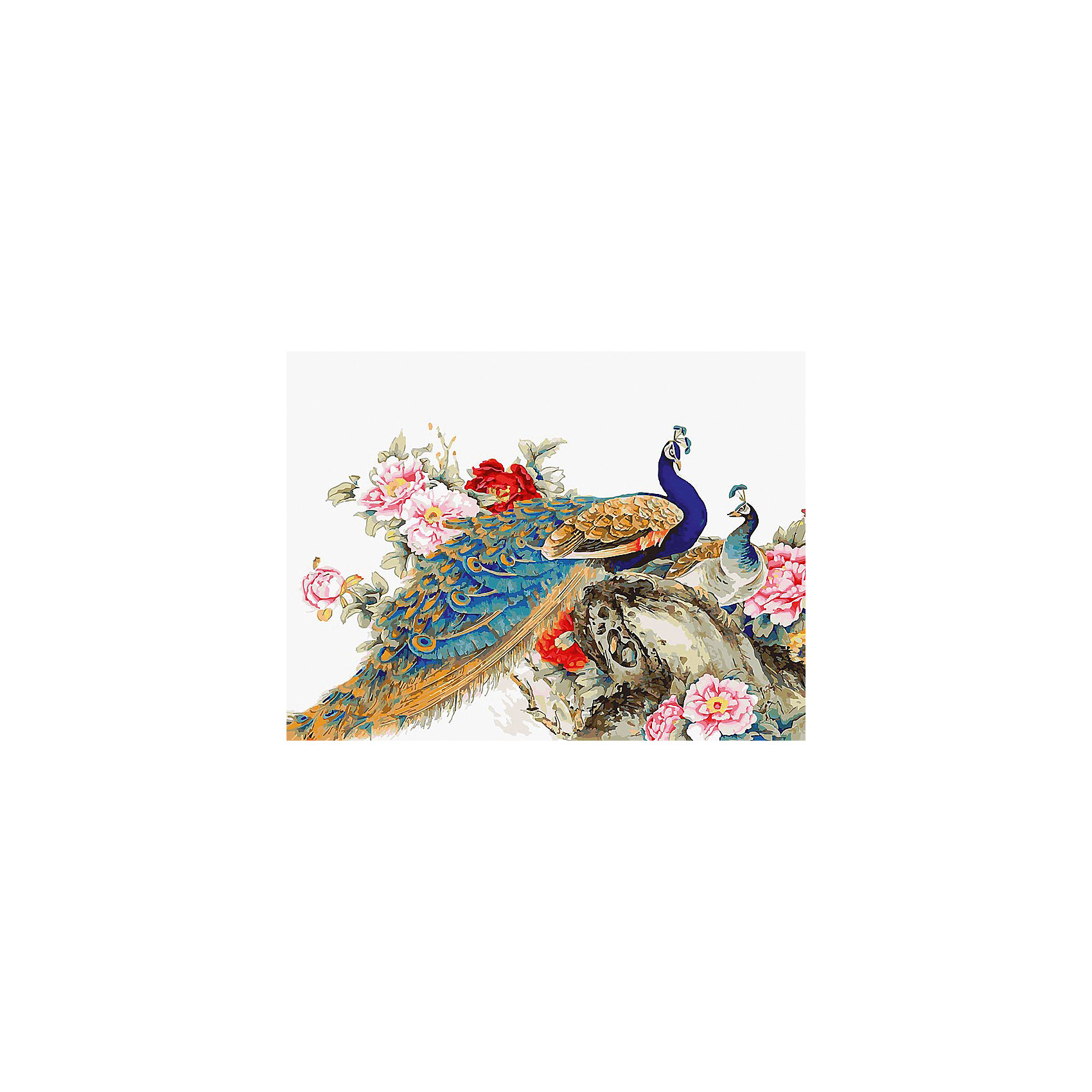 Белоснежка Живопись на холсте Китайские павлины 30*40 см наборы для рисования белоснежка живопись на холсте 30х40 см сова с ключиком 125 as