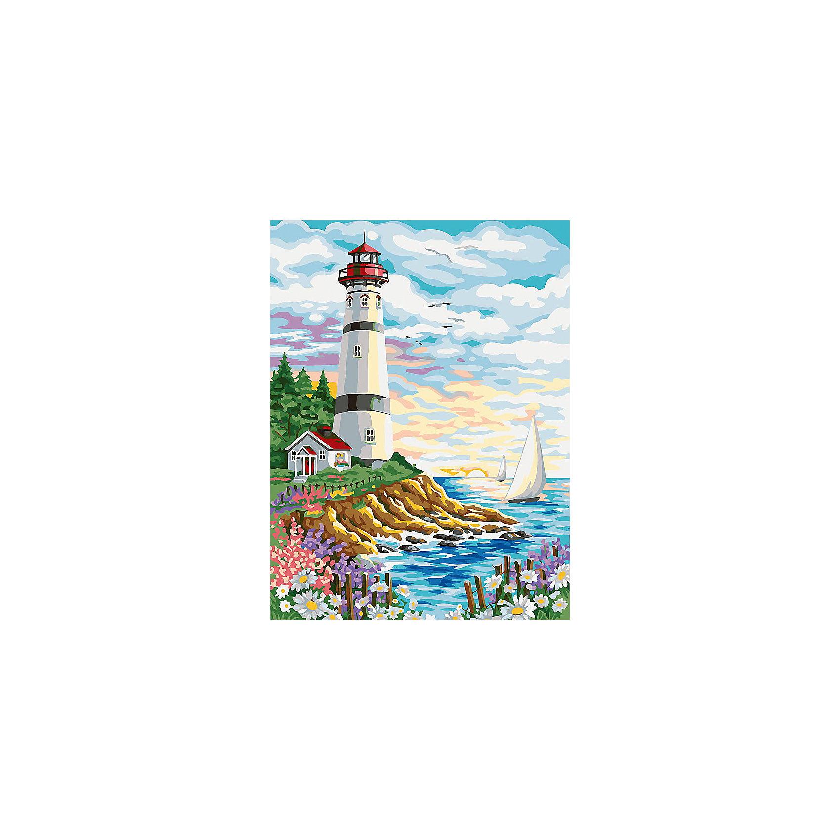 Живопись на холсте 30*40 см МаякРисование<br>Характеристики:<br><br>• Предназначение: для занятий художественным творчеством<br>• Тематика: архитектура<br>• Пол: универсальный<br>• Материал: дерево, бумага, краски<br>• Цвет: синий, голубой, белый, желтый, зеленый, коричневый и др.<br>• Комплектация: холст на подрамнике, набор акриловых красок, 3 кисти, пробный лист с нанесенным рисунком, крепление для готовой картины, инструкция<br>• Размеры (Ш*Д): 30*40 см<br>• Вес: 580 г <br>• Упаковка: картонная коробка<br><br>Живопись на холсте 30*40 см Маяк – это набор от торговой марки Белоснежка, специализирующейся на товарах для творчества и рукоделия. Комплект для живописи состоит из черно-белого холста на подрамнике из дерева, набора необходимых акриловых красок, трех кистей разного размера и пробного листа. На холст и пробный лист нанесен рисунок с указанием номера соответствующей цвету краски. Акриловые краски хорошо ложатся на холст, не растекаются и не смешиваются, что делает их идеальными для начинающих художников. Все материалы, используемые в наборе, экологичные и натуральные. Готовые наборы научат вашего ребенка сочетать цвета и оттенки, действовать по заданному образцу, будут способствовать развитию внимательности, усидчивости и зрительному восприятию. <br>Занятия художественным творчеством являются не только средством творческого и эстетического развития, но также воспитания и коррекции эмоциональных комплексов у детей. <br><br>С наборами живописи на холсте от Белоснежки можно создать свою галерею картин или подготовить подарок родным и близким к празднованию торжества.<br><br>Живопись на холсте 30*40 см Маяк можно купить в нашем интернет-магазине.<br><br>Ширина мм: 410<br>Глубина мм: 310<br>Высота мм: 25<br>Вес г: 567<br>Возраст от месяцев: 72<br>Возраст до месяцев: 144<br>Пол: Унисекс<br>Возраст: Детский<br>SKU: 5089674