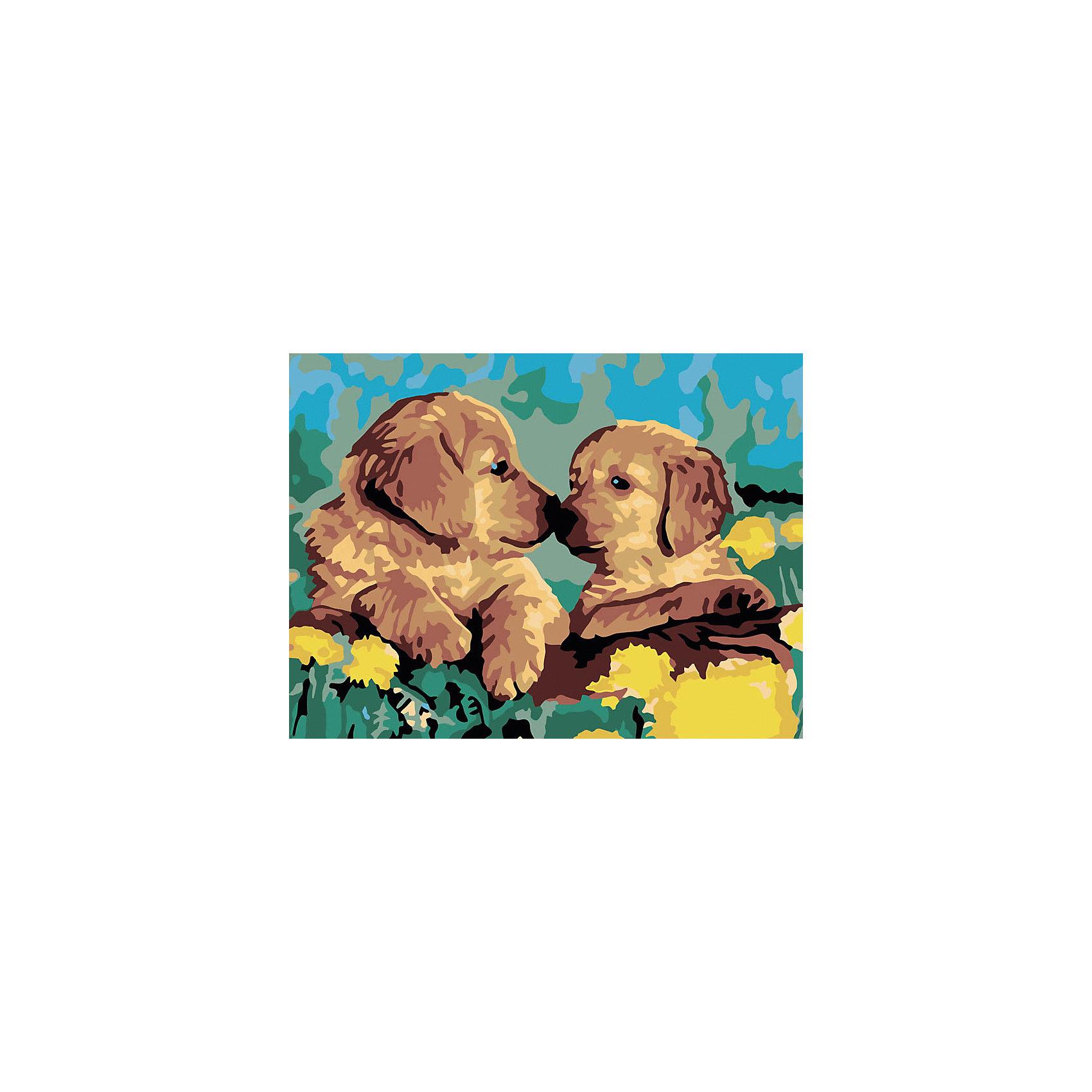 Живопись на холсте 30*40 см ЗнакомствоРисование<br>Характеристики:<br><br>• Предназначение: для занятий художественным творчеством<br>• Тематика: животные<br>• Пол: универсальный<br>• Материал: дерево, бумага, краски<br>• Цвет: зеленый, коричневый, желтый, голубой и др.<br>• Комплектация: холст на подрамнике, набор акриловых красок, 2 кисти, пробный лист с нанесенным рисунком, крепление для готовой картины, инструкция<br>• Размеры (Ш*Д): 30*40 см<br>• Вес: 480 г <br>• Упаковка: картонная коробка<br><br>Живопись на холсте 30*40 см Знакомство – это набор от торговой марки Белоснежка, специализирующейся на товарах для творчества и рукоделия. Комплект для живописи состоит из черно-белого холста на подрамнике из дерева, набора необходимых акриловых красок, двух кистей разного размера и пробного листа. На холст и пробный лист нанесен рисунок с указанием номера соответствующей цвету краски. Акриловые краски хорошо ложатся на холст, не растекаются и не смешиваются, что делает их идеальными для начинающих художников. Все материалы, используемые в наборе, экологичные и натуральные. Готовые наборы научат вашего ребенка сочетать цвета и оттенки, действовать по заданному образцу, будут способствовать развитию внимательности, усидчивости и зрительному восприятию. <br>Занятия художественным творчеством являются не только средством творческого и эстетического развития, но также воспитания и коррекции эмоциональных комплексов у детей. <br><br>С наборами живописи на холсте от Белоснежки можно создать свою галерею картин или подготовить подарок родным и близким к празднованию торжества.<br><br>Живопись на холсте 30*40 см Знакомство можно купить в нашем интернет-магазине.<br><br>Ширина мм: 410<br>Глубина мм: 310<br>Высота мм: 25<br>Вес г: 567<br>Возраст от месяцев: 72<br>Возраст до месяцев: 144<br>Пол: Унисекс<br>Возраст: Детский<br>SKU: 5089675