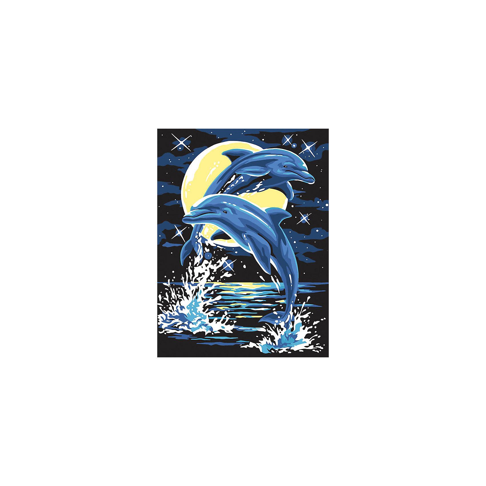 Живопись на холсте 30*40 см ДельфиныРисование<br>Характеристики товара:<br><br>• цвет: разноцветный<br>• материал: акрил, картон<br>• размер: 30 x 40 см<br>• комплектация: полотно на подрамнике с контурами рисунка, пробный лист с рисунком, набор акриловых красок, три кисти, крепление на стену для картины<br>• для детей от шести лет и взрослых<br>• не требует специальных навыков<br>• страна бренда: Китай<br>• страна изготовитель: Китай<br><br>Как с удовольствием и пользой провести время? Порисовать! Это занятие, которое любят многие дети и взрослые. Рисование помогает развить важные навыки и просто приносит удовольствие! Чтобы вселить в ребенка уверенность в своих силах, можно предложить ему этот набор - в нем уже есть сюжет, контуры рисунка и участки с номерами, которые обозначают определенную краску из набора. Все оттенки уже готовы, задача художника - аккуратно, с помощью кисточек из набора, нанести краски на определенный участок полотна.<br>Взрослым также понравится этот процесс, рисовать можно и вместе с малышом! В итоге получается красивая картина, которой можно украсить интерьер. Рисование способствует развитию мелкой моторики, воображения, цветовосприятия, творческих способностей и усидчивости. Набор отлично проработан, сделан из качественных и проверенных материалов, которые безопасны для детей. Краски - акриловые, они быстро сохнут и легко смываются с кожи.<br><br>Живопись на холсте 30*40 см Дельфины от торговой марки Белоснежка можно купить в нашем интернет-магазине.<br><br>Ширина мм: 410<br>Глубина мм: 310<br>Высота мм: 25<br>Вес г: 567<br>Возраст от месяцев: 72<br>Возраст до месяцев: 144<br>Пол: Унисекс<br>Возраст: Детский<br>SKU: 5089676