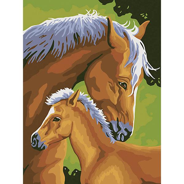 Живопись на холсте 30*40 см Лошадь и жеребенокРаскраски по номерам<br>Характеристики товара:<br><br>• цвет: разноцветный<br>• материал: акрил, картон<br>• размер: 30 x 40 см<br>• комплектация: полотно на подрамнике с контурами рисунка, пробный лист с рисунком, набор акриловых красок, три кисти, крепление на стену для картины<br>• для детей от шести лет и взрослых<br>• не требует специальных навыков<br>• страна бренда: Китай<br>• страна изготовитель: Китай<br><br>Рисование - это занятие, которое любят многие дети и взрослые. Оно помогает развить важные навыки и просто приносит удовольствие! Чтобы вселить в ребенка уверенность в своих силах, можно предложить ему этот набор - в нем уже есть сюжет, контуры рисунка и участки с номерами, которые обозначают определенную краску из набора. Все оттенки уже готовы, задача художника - аккуратно, с помощью кисточек из набора, нанести краски на определенный участок полотна.<br>Взрослым также понравится этот процесс, рисовать можно и вместе с малышом! В итоге получается красивая картина, которой можно украсить интерьер. Рисование способствует развитию мелкой моторики, воображения, цветовосприятия, творческих способностей и усидчивости. Набор отлично проработан, сделан из качественных и проверенных материалов, которые безопасны для детей. Краски - акриловые, они быстро сохнут и легко смываются с кожи.<br><br>Живопись на холсте 30*40 см Лошадь и жеребенок от торговой марки Белоснежка можно купить в нашем интернет-магазине.<br><br>Ширина мм: 410<br>Глубина мм: 310<br>Высота мм: 25<br>Вес г: 567<br>Возраст от месяцев: 72<br>Возраст до месяцев: 144<br>Пол: Унисекс<br>Возраст: Детский<br>SKU: 5089677