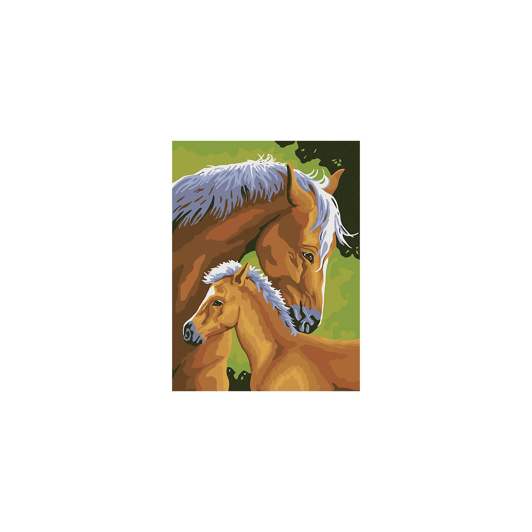 Живопись на холсте 30*40 см Лошадь и жеребенокХарактеристики товара:<br><br>• цвет: разноцветный<br>• материал: акрил, картон<br>• размер: 30 x 40 см<br>• комплектация: полотно на подрамнике с контурами рисунка, пробный лист с рисунком, набор акриловых красок, три кисти, крепление на стену для картины<br>• для детей от шести лет и взрослых<br>• не требует специальных навыков<br>• страна бренда: Китай<br>• страна изготовитель: Китай<br><br>Рисование - это занятие, которое любят многие дети и взрослые. Оно помогает развить важные навыки и просто приносит удовольствие! Чтобы вселить в ребенка уверенность в своих силах, можно предложить ему этот набор - в нем уже есть сюжет, контуры рисунка и участки с номерами, которые обозначают определенную краску из набора. Все оттенки уже готовы, задача художника - аккуратно, с помощью кисточек из набора, нанести краски на определенный участок полотна.<br>Взрослым также понравится этот процесс, рисовать можно и вместе с малышом! В итоге получается красивая картина, которой можно украсить интерьер. Рисование способствует развитию мелкой моторики, воображения, цветовосприятия, творческих способностей и усидчивости. Набор отлично проработан, сделан из качественных и проверенных материалов, которые безопасны для детей. Краски - акриловые, они быстро сохнут и легко смываются с кожи.<br><br>Живопись на холсте 30*40 см Лошадь и жеребенок от торговой марки Белоснежка можно купить в нашем интернет-магазине.<br><br>Ширина мм: 410<br>Глубина мм: 310<br>Высота мм: 25<br>Вес г: 567<br>Возраст от месяцев: 72<br>Возраст до месяцев: 144<br>Пол: Унисекс<br>Возраст: Детский<br>SKU: 5089677