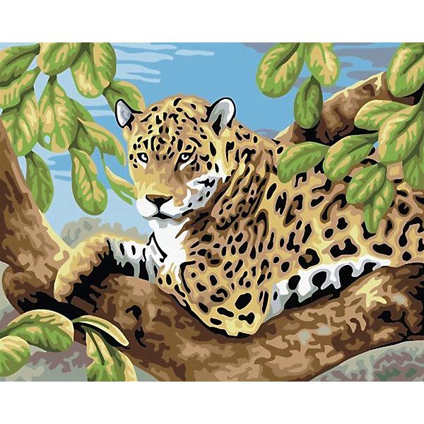 Живопись на холсте 30*40 см Леопард в лесуРаскраски по номерам<br>Характеристики товара:<br><br>• цвет: разноцветный<br>• материал: акрил, картон<br>• размер: 30 x 40 см<br>• комплектация: полотно на подрамнике с контурами рисунка, пробный лист с рисунком, набор акриловых красок, три кисти, крепление на стену для картины<br>• для детей от шести лет и взрослых<br>• не требует специальных навыков<br>• страна бренда: Китай<br>• страна изготовитель: Китай<br><br>Как с удовольствием и пользой провести время? Порисовать! Это занятие, которое любят многие дети и взрослые. Рисование помогает развить важные навыки и просто приносит удовольствие! Чтобы вселить в ребенка уверенность в своих силах, можно предложить ему этот набор - в нем уже есть сюжет, контуры рисунка и участки с номерами, которые обозначают определенную краску из набора. Все оттенки уже готовы, задача художника - аккуратно, с помощью кисточек из набора, нанести краски на определенный участок полотна.<br>Взрослым также понравится этот процесс, рисовать можно и вместе с малышом! В итоге получается красивая картина, которой можно украсить интерьер. Рисование способствует развитию мелкой моторики, воображения, цветовосприятия, творческих способностей и усидчивости. Набор отлично проработан, сделан из качественных и проверенных материалов, которые безопасны для детей. Краски - акриловые, они быстро сохнут и легко смываются с кожи.<br><br>Живопись на холсте 30*40 см Леопард в лесу от торговой марки Белоснежка можно купить в нашем интернет-магазине.<br><br>Ширина мм: 410<br>Глубина мм: 310<br>Высота мм: 25<br>Вес г: 567<br>Возраст от месяцев: 72<br>Возраст до месяцев: 144<br>Пол: Унисекс<br>Возраст: Детский<br>SKU: 5089685