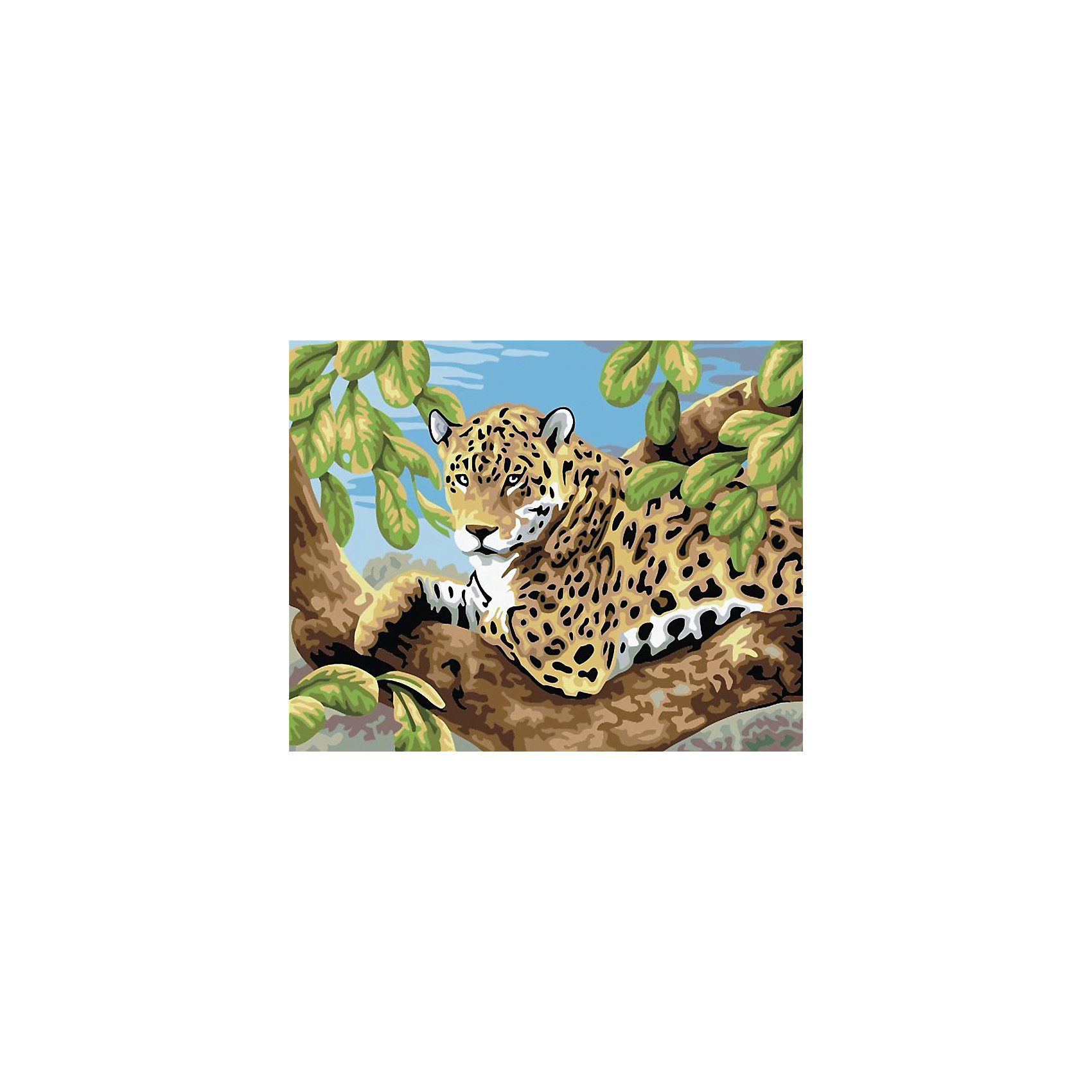 Живопись на холсте 30*40 см Леопард в лесуРисование<br>Характеристики товара:<br><br>• цвет: разноцветный<br>• материал: акрил, картон<br>• размер: 30 x 40 см<br>• комплектация: полотно на подрамнике с контурами рисунка, пробный лист с рисунком, набор акриловых красок, три кисти, крепление на стену для картины<br>• для детей от шести лет и взрослых<br>• не требует специальных навыков<br>• страна бренда: Китай<br>• страна изготовитель: Китай<br><br>Как с удовольствием и пользой провести время? Порисовать! Это занятие, которое любят многие дети и взрослые. Рисование помогает развить важные навыки и просто приносит удовольствие! Чтобы вселить в ребенка уверенность в своих силах, можно предложить ему этот набор - в нем уже есть сюжет, контуры рисунка и участки с номерами, которые обозначают определенную краску из набора. Все оттенки уже готовы, задача художника - аккуратно, с помощью кисточек из набора, нанести краски на определенный участок полотна.<br>Взрослым также понравится этот процесс, рисовать можно и вместе с малышом! В итоге получается красивая картина, которой можно украсить интерьер. Рисование способствует развитию мелкой моторики, воображения, цветовосприятия, творческих способностей и усидчивости. Набор отлично проработан, сделан из качественных и проверенных материалов, которые безопасны для детей. Краски - акриловые, они быстро сохнут и легко смываются с кожи.<br><br>Живопись на холсте 30*40 см Леопард в лесу от торговой марки Белоснежка можно купить в нашем интернет-магазине.<br><br>Ширина мм: 410<br>Глубина мм: 310<br>Высота мм: 25<br>Вес г: 567<br>Возраст от месяцев: 72<br>Возраст до месяцев: 144<br>Пол: Унисекс<br>Возраст: Детский<br>SKU: 5089685