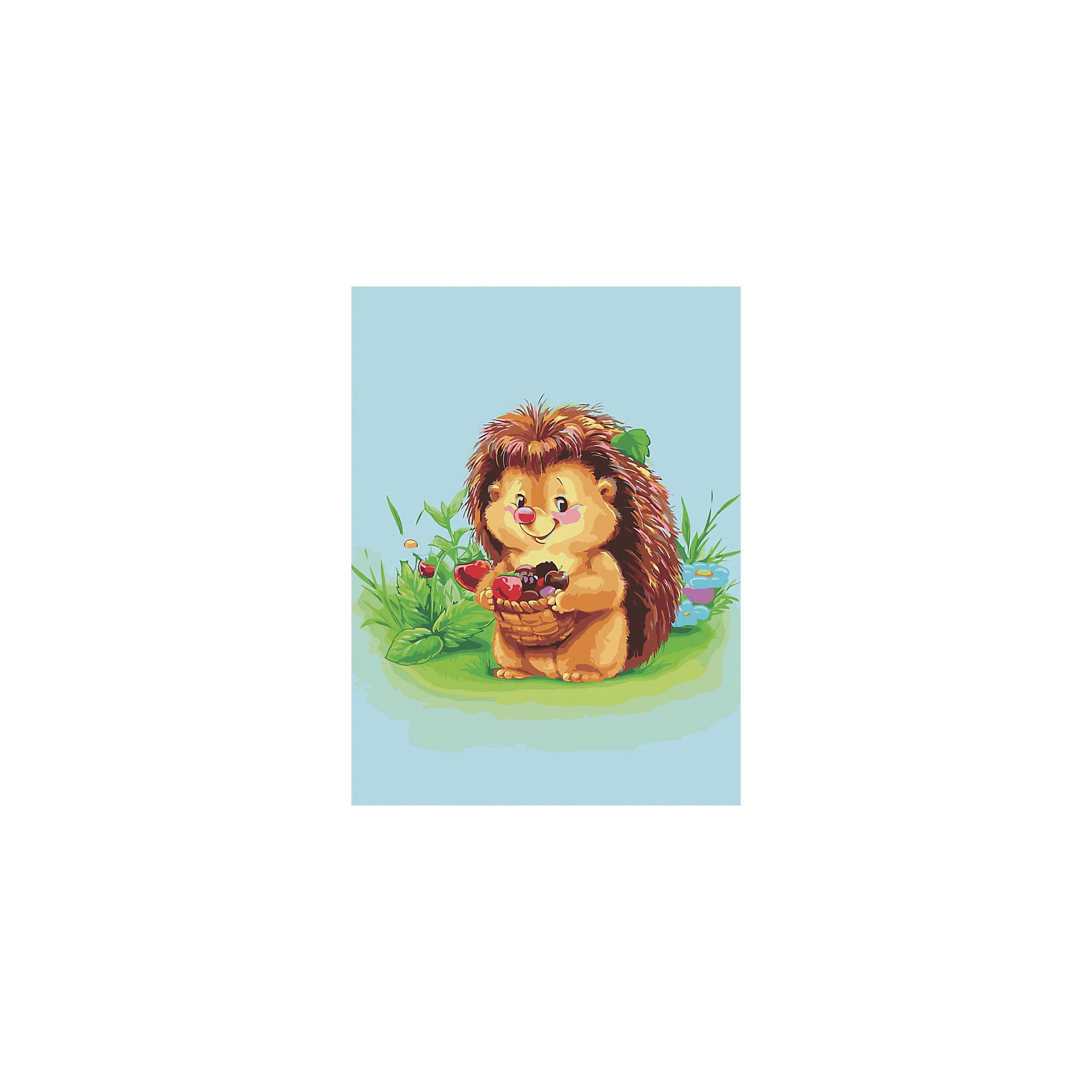 Живопись на холсте 30*40 см Ёжик с лукошкомРаскраски по номерам<br>Характеристики товара:<br><br>• цвет: разноцветный<br>• материал: акрил, картон<br>• размер: 30 x 40 см<br>• комплектация: полотно на подрамнике с контурами рисунка, пробный лист с рисунком, набор акриловых красок, три кисти, крепление на стену для картины<br>• для детей от шести лет и взрослых<br>• не требует специальных навыков<br>• страна бренда: Китай<br>• страна изготовитель: Китай<br><br>Как с удовольствием и пользой провести время? Порисовать! Это занятие, которое любят многие дети и взрослые. Рисование помогает развить важные навыки и просто приносит удовольствие! Чтобы вселить в ребенка уверенность в своих силах, можно предложить ему этот набор - в нем уже есть сюжет, контуры рисунка и участки с номерами, которые обозначают определенную краску из набора. Все оттенки уже готовы, задача художника - аккуратно, с помощью кисточек из набора, нанести краски на определенный участок полотна.<br>Взрослым также понравится этот процесс, рисовать можно и вместе с малышом! В итоге получается красивая картина, которой можно украсить интерьер. Рисование способствует развитию мелкой моторики, воображения, цветовосприятия, творческих способностей и усидчивости. Набор отлично проработан, сделан из качественных и проверенных материалов, которые безопасны для детей. Краски - акриловые, они быстро сохнут и легко смываются с кожи.<br><br>Живопись на холсте 30*40 см Ёжик с лукошком от торговой марки Белоснежка можно купить в нашем интернет-магазине.<br><br>Ширина мм: 410<br>Глубина мм: 310<br>Высота мм: 25<br>Вес г: 567<br>Возраст от месяцев: 72<br>Возраст до месяцев: 144<br>Пол: Унисекс<br>Возраст: Детский<br>SKU: 5089693