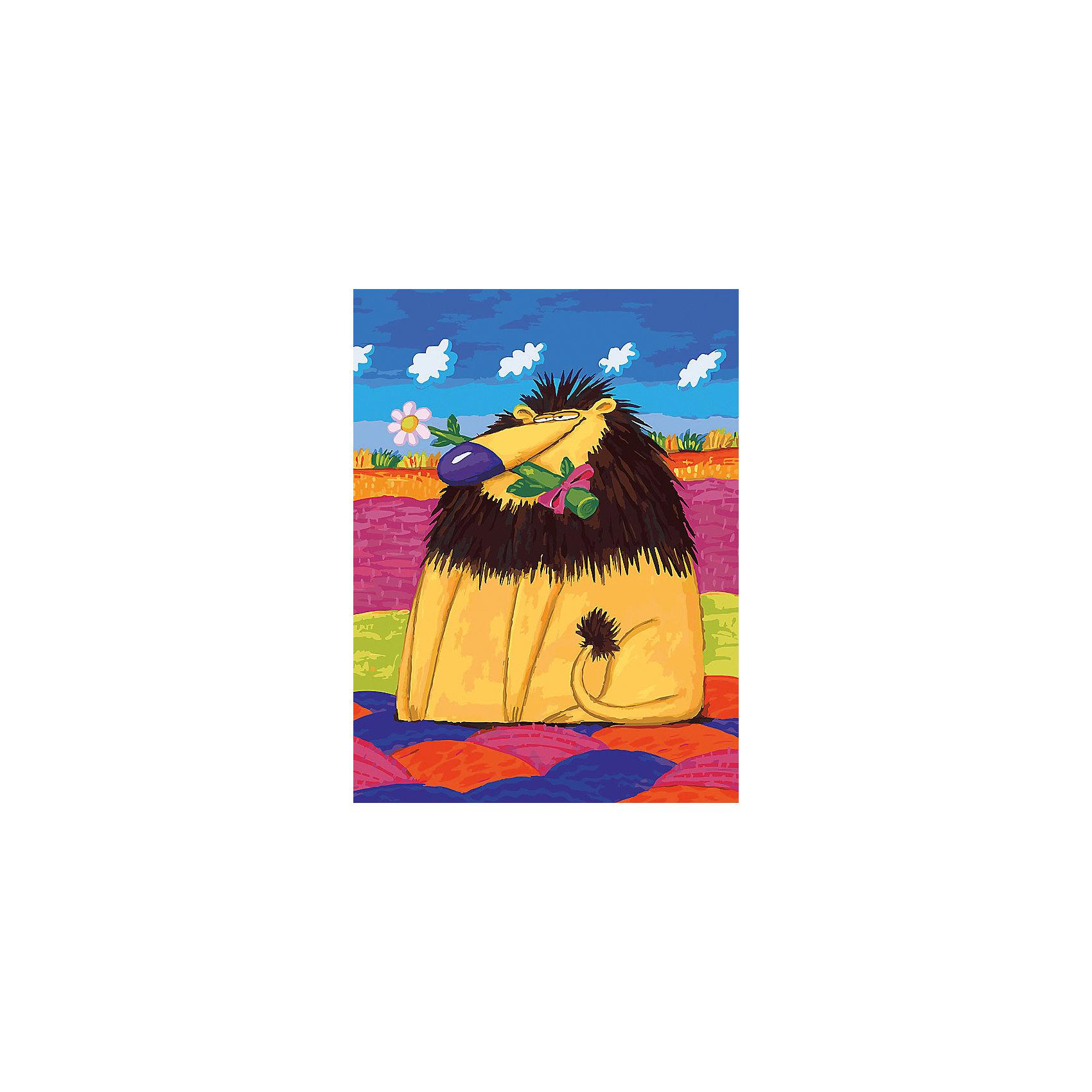 Живопись на холсте 30*40 см Добрый левХарактеристики товара:<br><br>• цвет: разноцветный<br>• материал: акрил, картон<br>• размер: 30 x 40 см<br>• комплектация: полотно на подрамнике с контурами рисунка, пробный лист с рисунком, набор акриловых красок, три кисти, крепление на стену для картины<br>• для детей от шести лет и взрослых<br>• не требует специальных навыков<br>• страна бренда: Китай<br>• страна изготовитель: Китай<br><br>Рисование - это занятие, которое любят многие дети и взрослые. Оно помогает развить важные навыки и просто приносит удовольствие! Чтобы вселить в ребенка уверенность в своих силах, можно предложить ему этот набор - в нем уже есть сюжет, контуры рисунка и участки с номерами, которые обозначают определенную краску из набора. Все оттенки уже готовы, задача художника - аккуратно, с помощью кисточек из набора, нанести краски на определенный участок полотна.<br>Взрослым также понравится этот процесс, рисовать можно и вместе с малышом! В итоге получается красивая картина, которой можно украсить интерьер. Рисование способствует развитию мелкой моторики, воображения, цветовосприятия, творческих способностей и усидчивости. Набор отлично проработан, сделан из качественных и проверенных материалов, которые безопасны для детей. Краски - акриловые, они быстро сохнут и легко смываются с кожи.<br><br>Живопись на холсте 30*40 см Добрый лев от торговой марки Белоснежка можно купить в нашем интернет-магазине.<br><br>Ширина мм: 410<br>Глубина мм: 310<br>Высота мм: 25<br>Вес г: 567<br>Возраст от месяцев: 72<br>Возраст до месяцев: 144<br>Пол: Унисекс<br>Возраст: Детский<br>SKU: 5089703