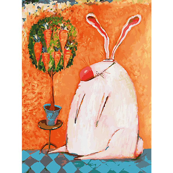 Живопись на холсте Счастливый кролик 30*40 смРаскраски по номерам<br>Характеристики товара:<br><br>• цвет: разноцветный<br>• материал: акрил, картон<br>• размер: 30 x 40 см<br>• комплектация: полотно на подрамнике с контурами рисунка, пробный лист с рисунком, набор акриловых красок, три кисти, крепление на стену для картины<br>• для детей от шести лет и взрослых<br>• не требует специальных навыков<br>• страна бренда: Китай<br>• страна изготовитель: Китай<br><br>Как с удовольствием и пользой провести время? Порисовать! Это занятие, которое любят многие дети и взрослые. Рисование помогает развить важные навыки и просто приносит удовольствие! Чтобы вселить в ребенка уверенность в своих силах, можно предложить ему этот набор - в нем уже есть сюжет, контуры рисунка и участки с номерами, которые обозначают определенную краску из набора. Все оттенки уже готовы, задача художника - аккуратно, с помощью кисточек из набора, нанести краски на определенный участок полотна.<br>Взрослым также понравится этот процесс, рисовать можно и вместе с малышом! В итоге получается красивая картина, которой можно украсить интерьер. Рисование способствует развитию мелкой моторики, воображения, цветовосприятия, творческих способностей и усидчивости. Набор отлично проработан, сделан из качественных и проверенных материалов, которые безопасны для детей. Краски - акриловые, они быстро сохнут и легко смываются с кожи.<br><br>Живопись на холсте 30*40 см Счастливый кролик от торговой марки Белоснежка можно купить в нашем интернет-магазине.<br><br>Ширина мм: 410<br>Глубина мм: 310<br>Высота мм: 25<br>Вес г: 567<br>Возраст от месяцев: 72<br>Возраст до месяцев: 144<br>Пол: Унисекс<br>Возраст: Детский<br>SKU: 5089704