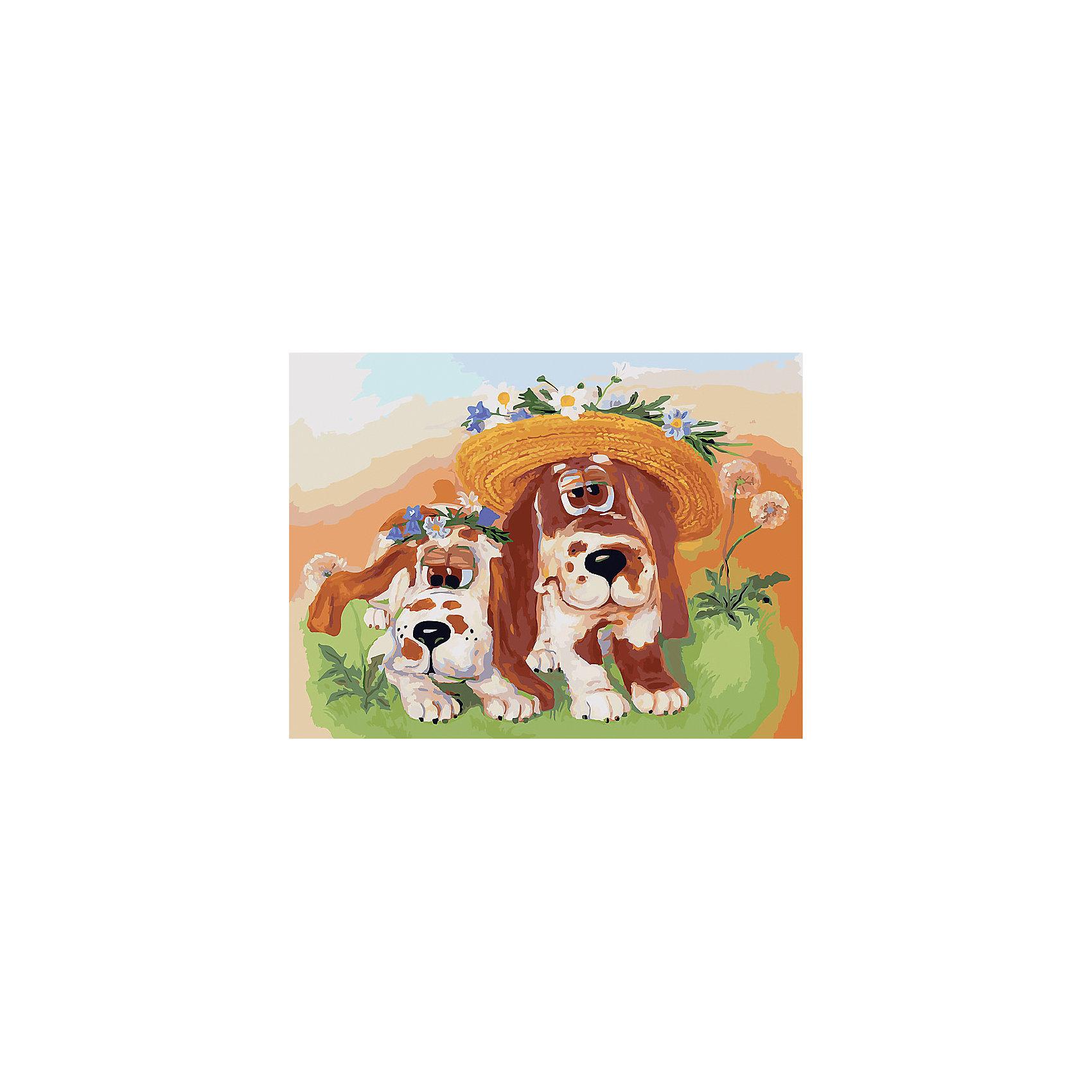 Живопись на холсте 30*40 см СобачкиХарактеристики товара:<br><br>• цвет: разноцветный<br>• материал: акрил, картон<br>• размер: 30 x 40 см<br>• комплектация: полотно на подрамнике с контурами рисунка, пробный лист с рисунком, набор акриловых красок, три кисти, крепление на стену для картины<br>• для детей от шести лет и взрослых<br>• не требует специальных навыков<br>• страна бренда: Китай<br>• страна изготовитель: Китай<br><br><br>Такой набор станет отличным подарком и для взрослого, и для ребенка! Рисование помогает развить различные навыки и просто приносит удовольствие! Чтобы вселить в ребенка уверенность в своих силах, можно предложить ему этот набор - в нем уже есть сюжет, контуры рисунка и участки с номерами, которые обозначают определенную краску из набора. Все оттенки уже готовы, задача художника - аккуратно, с помощью кисточек из набора, нанести краски на определенный участок полотна.<br>Взрослым также понравится этот процесс, рисовать можно и вместе с малышом! В итоге получается красивая картина, которой можно украсить интерьер. Рисование способствует развитию мелкой моторики, воображения, цветовосприятия, творческих способностей и усидчивости. Набор отлично проработан, сделан из качественных и проверенных материалов, которые безопасны для детей. Краски - акриловые, они быстро сохнут и легко смываются с кожи.<br><br>Живопись на холсте 30*40 см Собачки от торговой марки Белоснежка можно купить в нашем интернет-магазине.<br><br>Ширина мм: 410<br>Глубина мм: 310<br>Высота мм: 25<br>Вес г: 567<br>Возраст от месяцев: 72<br>Возраст до месяцев: 144<br>Пол: Унисекс<br>Возраст: Детский<br>SKU: 5089705