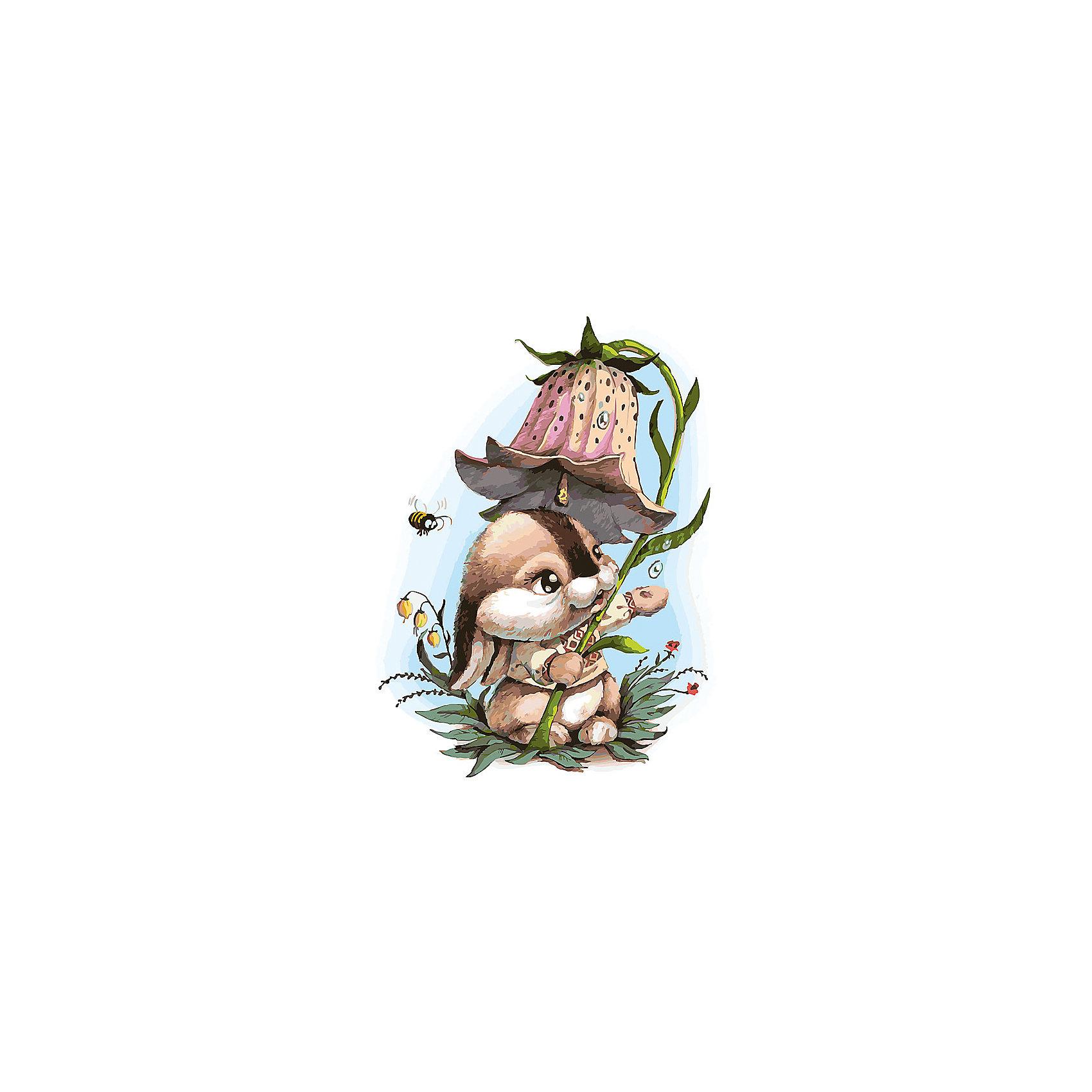 Белоснежка Живопись на холсте 30*40 см Зайчик с колокольчиком